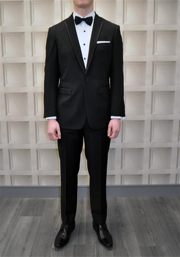 2 Piece Tapered Slim Fit Black Tuxedo