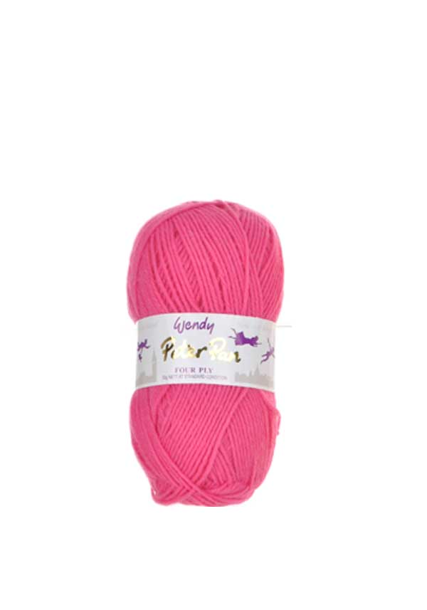 Wendy Peter Pan Four Ply Wool, 933 Raspberry