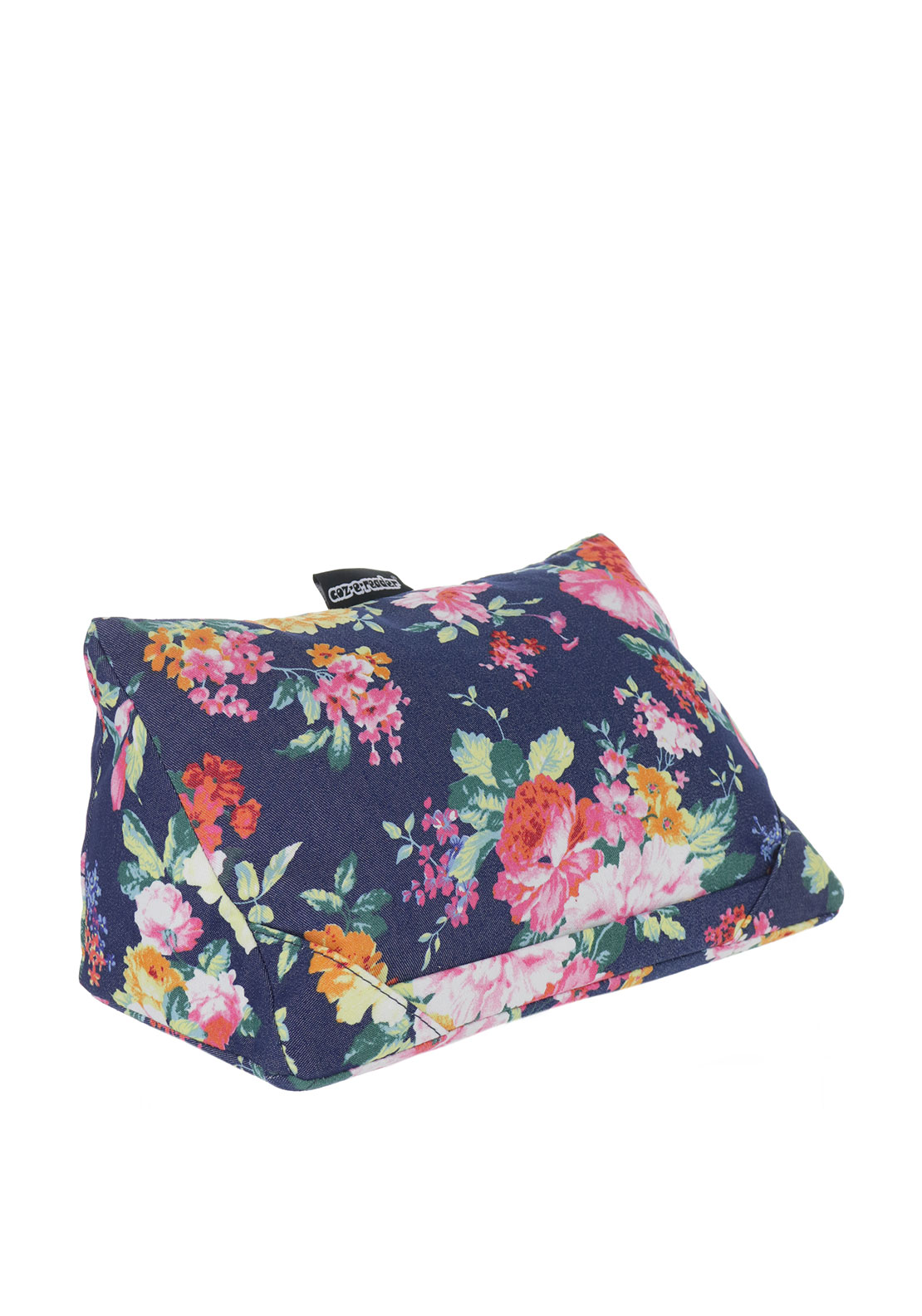Coz-e-reader Floral Tablet Cushion, Navy