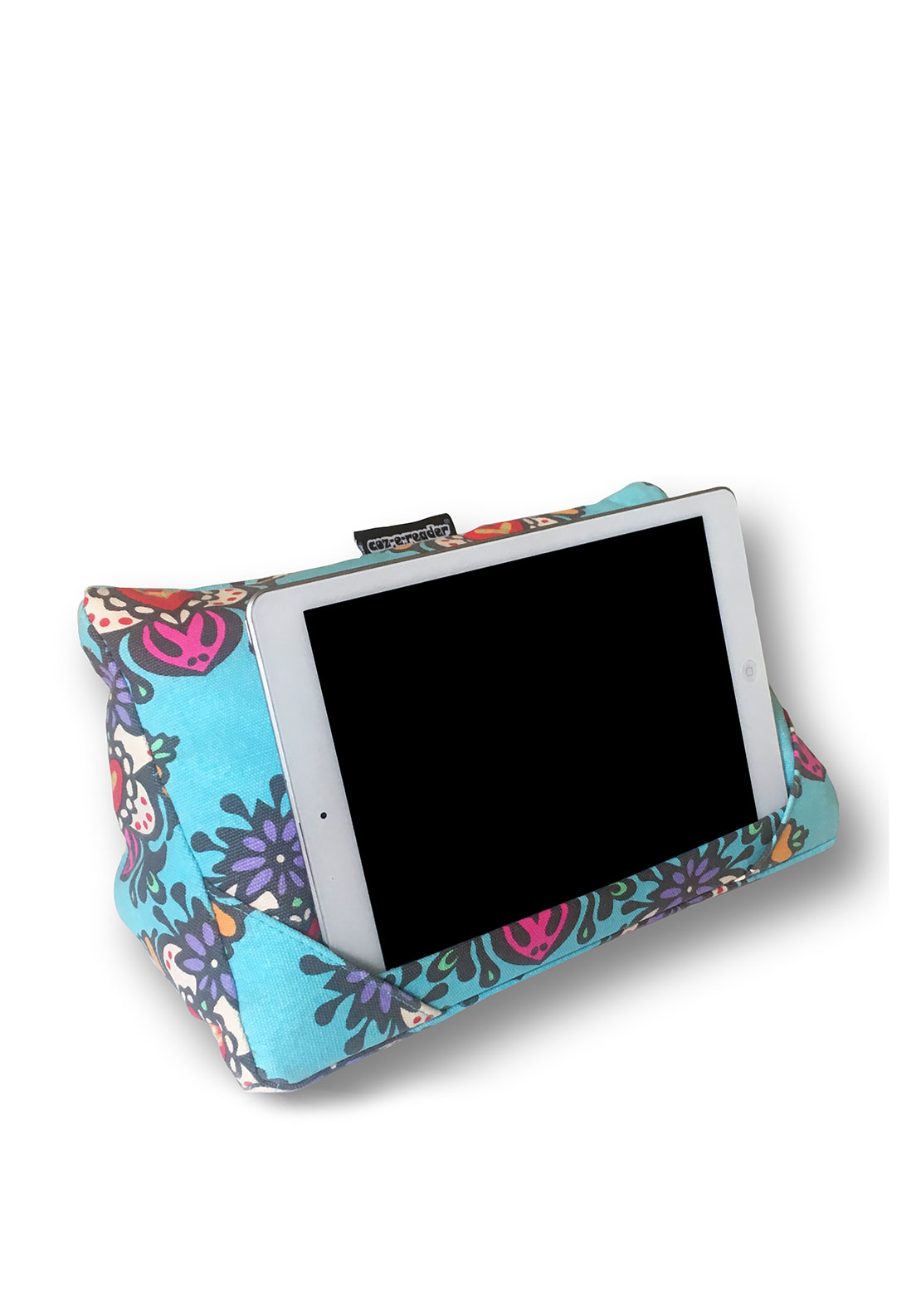 Coz-e-reader Retro Print Tablet Cushion, Blue