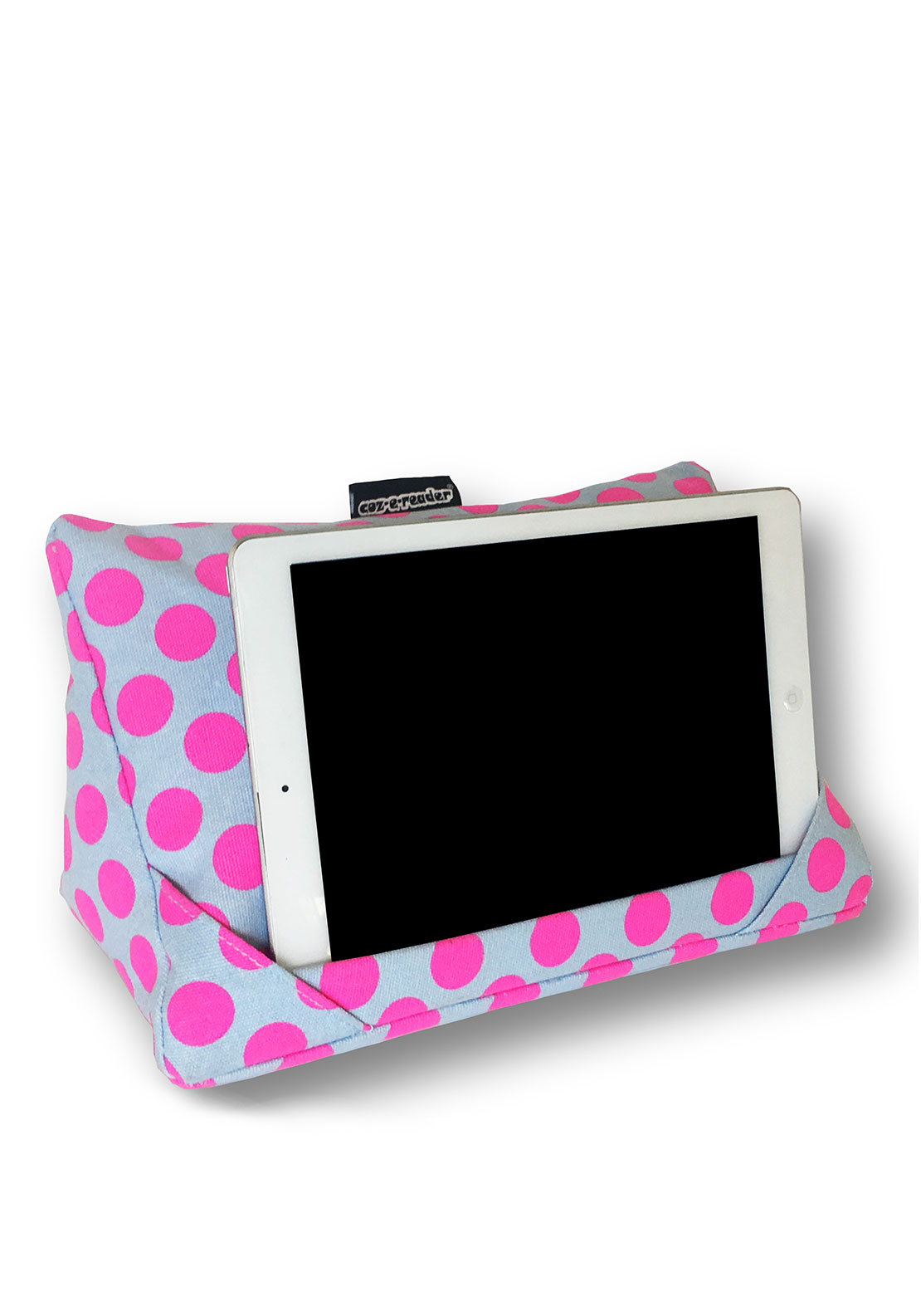 Coz-e-reader Polka Dot Tablet Cushion, Pink