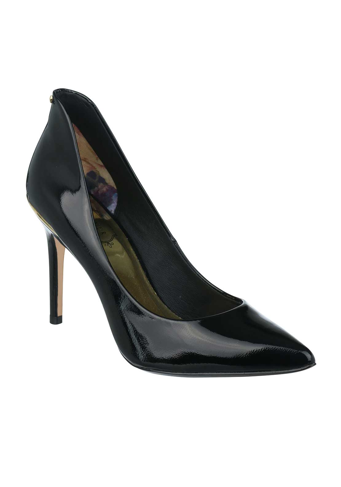 Ted Baker Womens Saviy Leather Heeled Shoes, Black