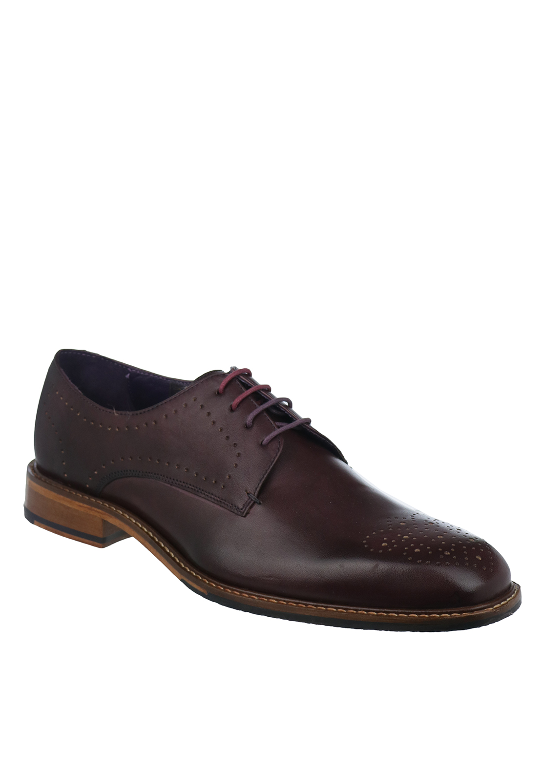 Ted Baker Mens Marar Leather Shoe, Wine