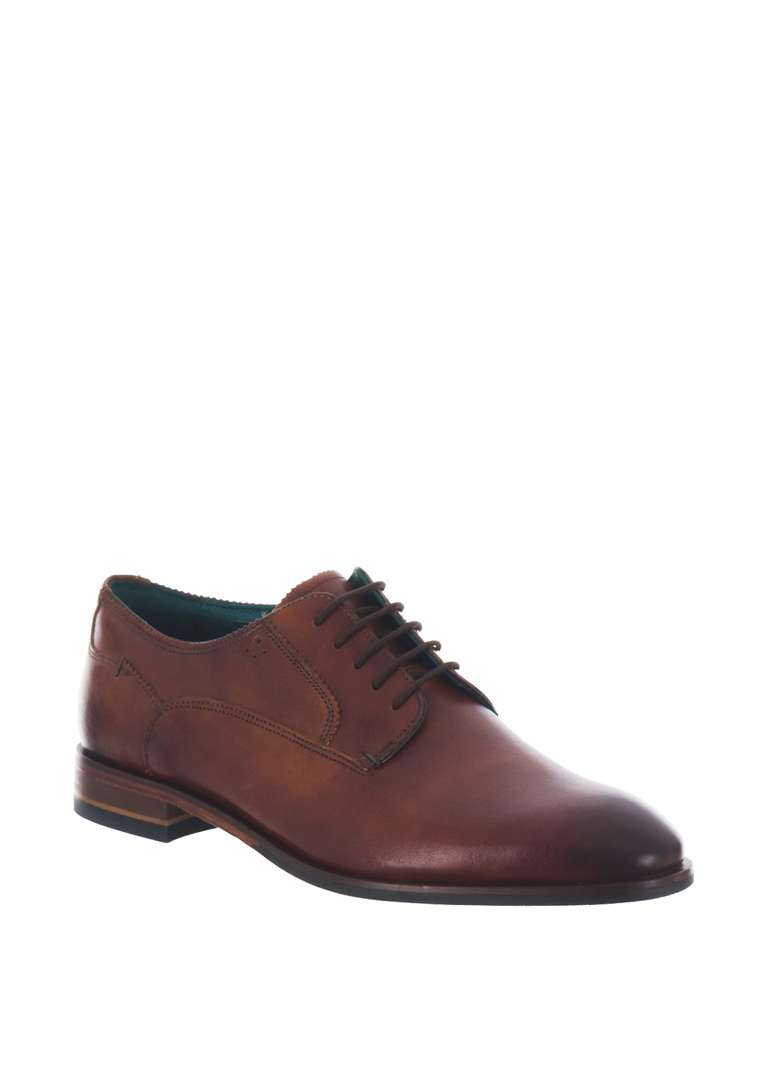 Ted Baker Parals Leather Derby Shoe, Tan