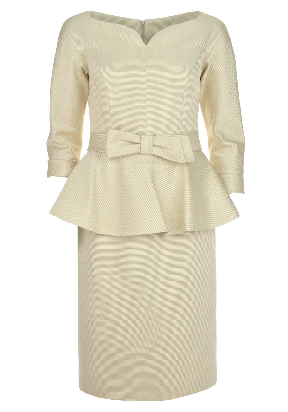 Teresa Ripoll Peplum Dress, Cream
