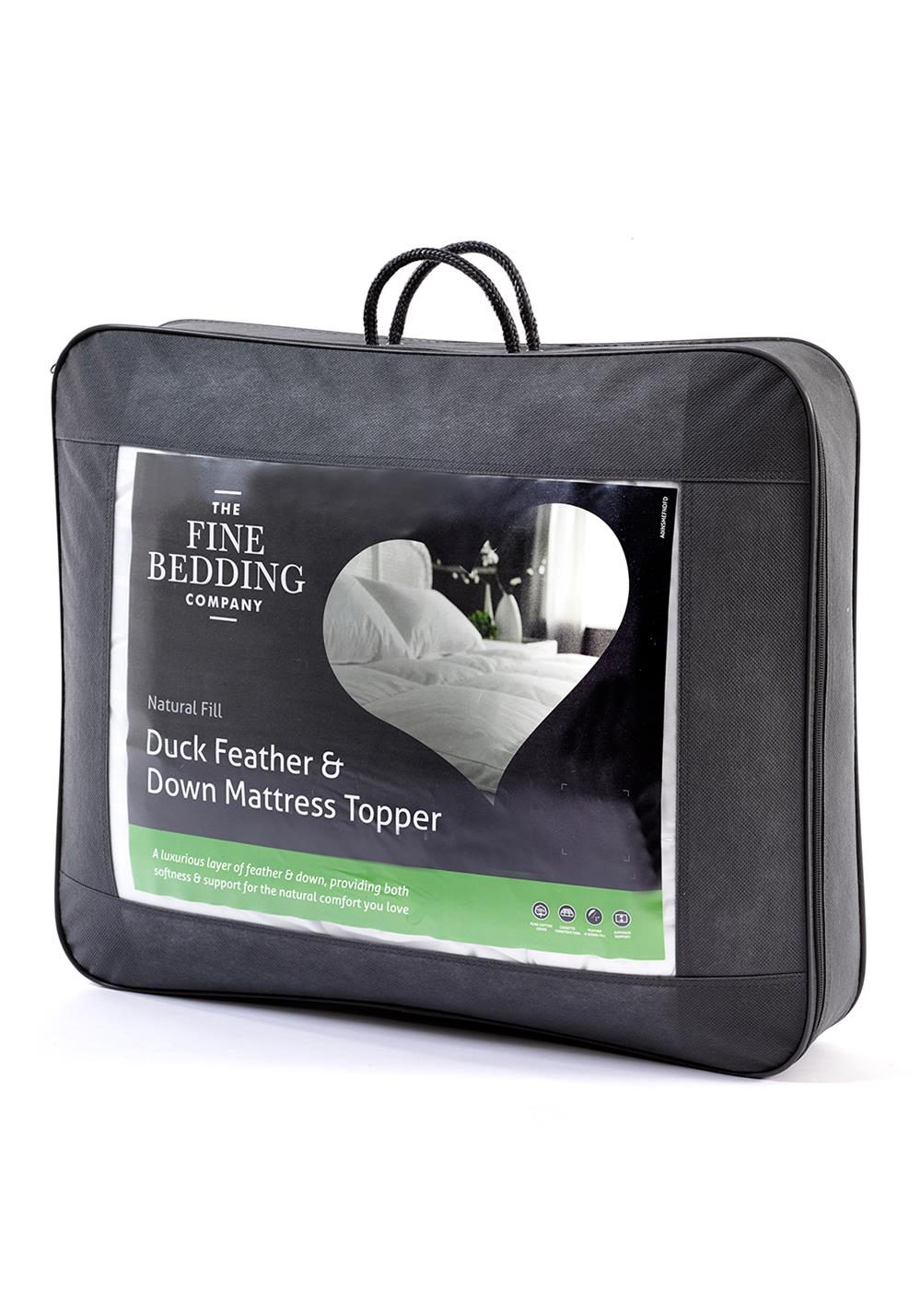 The Fine Bedding Company Duck Feather And Down Mattress Topper