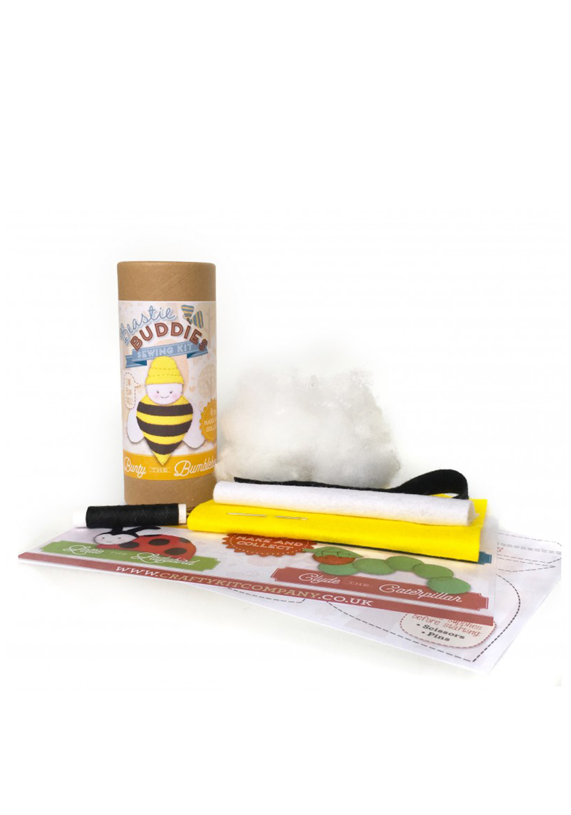 The Crafty Kit Co. Bunty the Bumblebee Sewing Kit