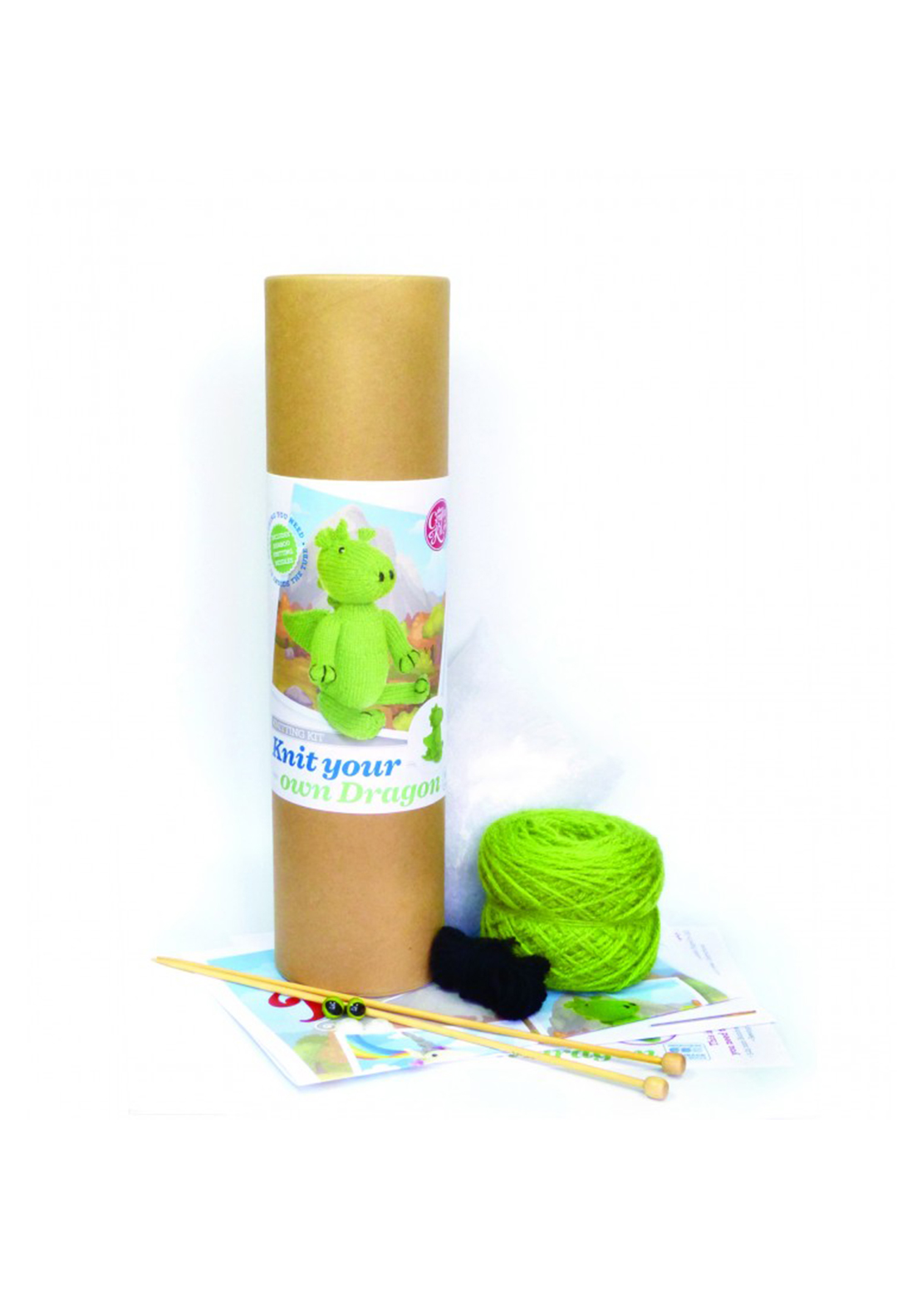 The Crafty Kit Co. Knit Your Own Dragon Sewing Kit
