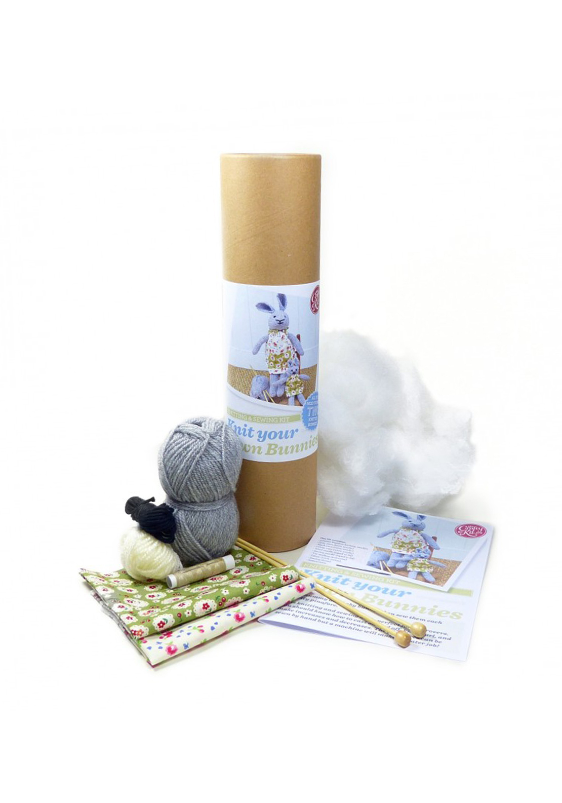 The Crafty Kit Co. Knit Your Own Bunnies Sewing Kit