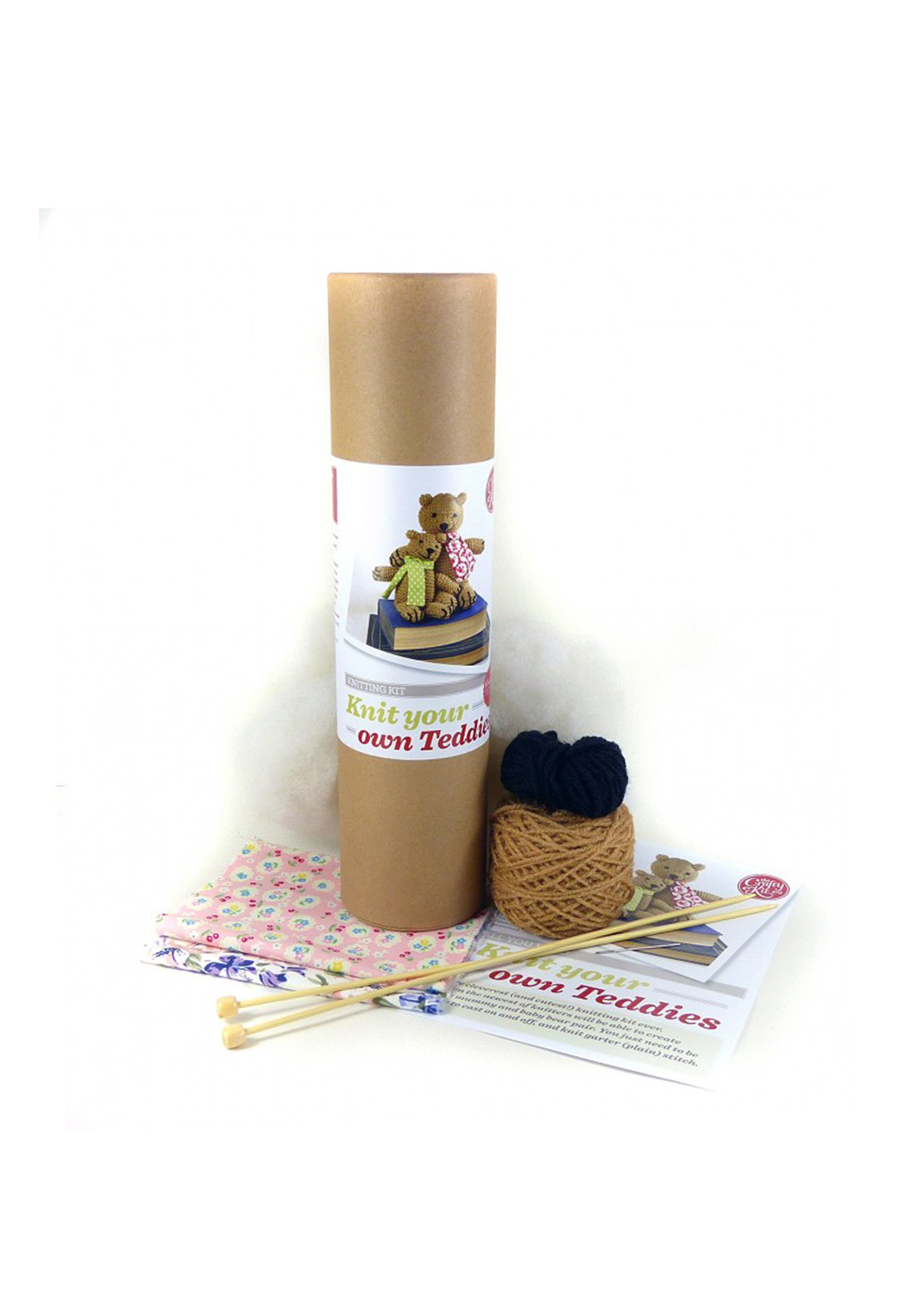 The Crafty Kit Co. Knit Your Own Teddies Sewing Kit