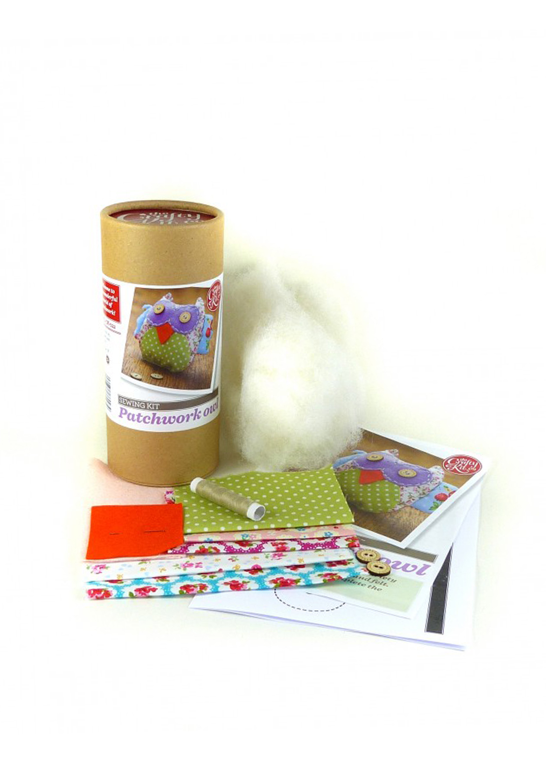 The Crafty Kit Co. Patchwork Owl Sewing Kit