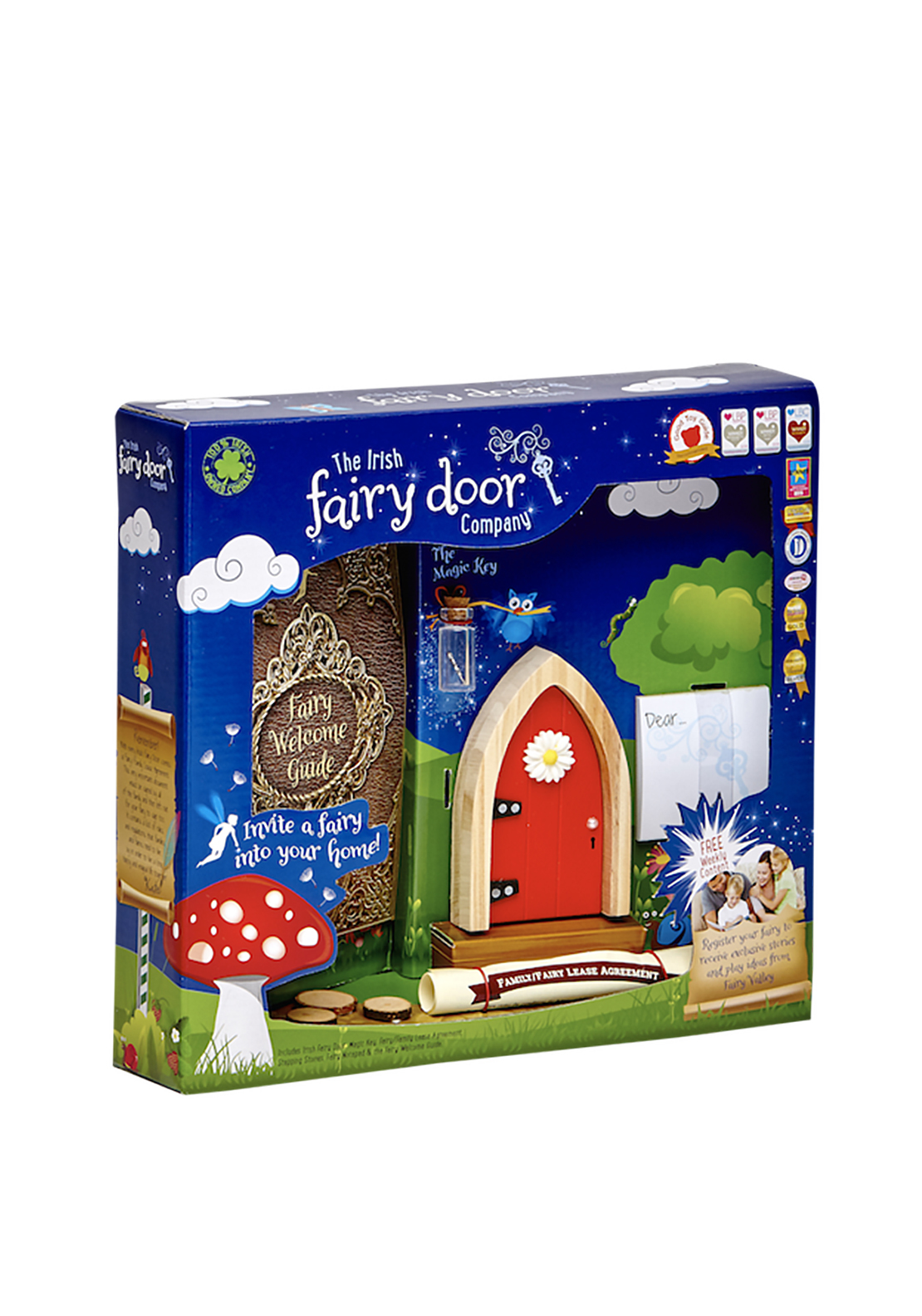 The Irish Fairy Door Company Arched Fairy Door, Red