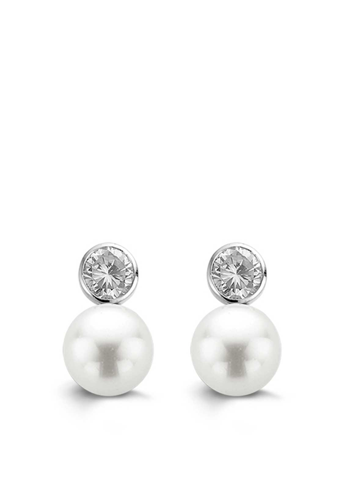 Ti Sento Milano Earrings White Pearl