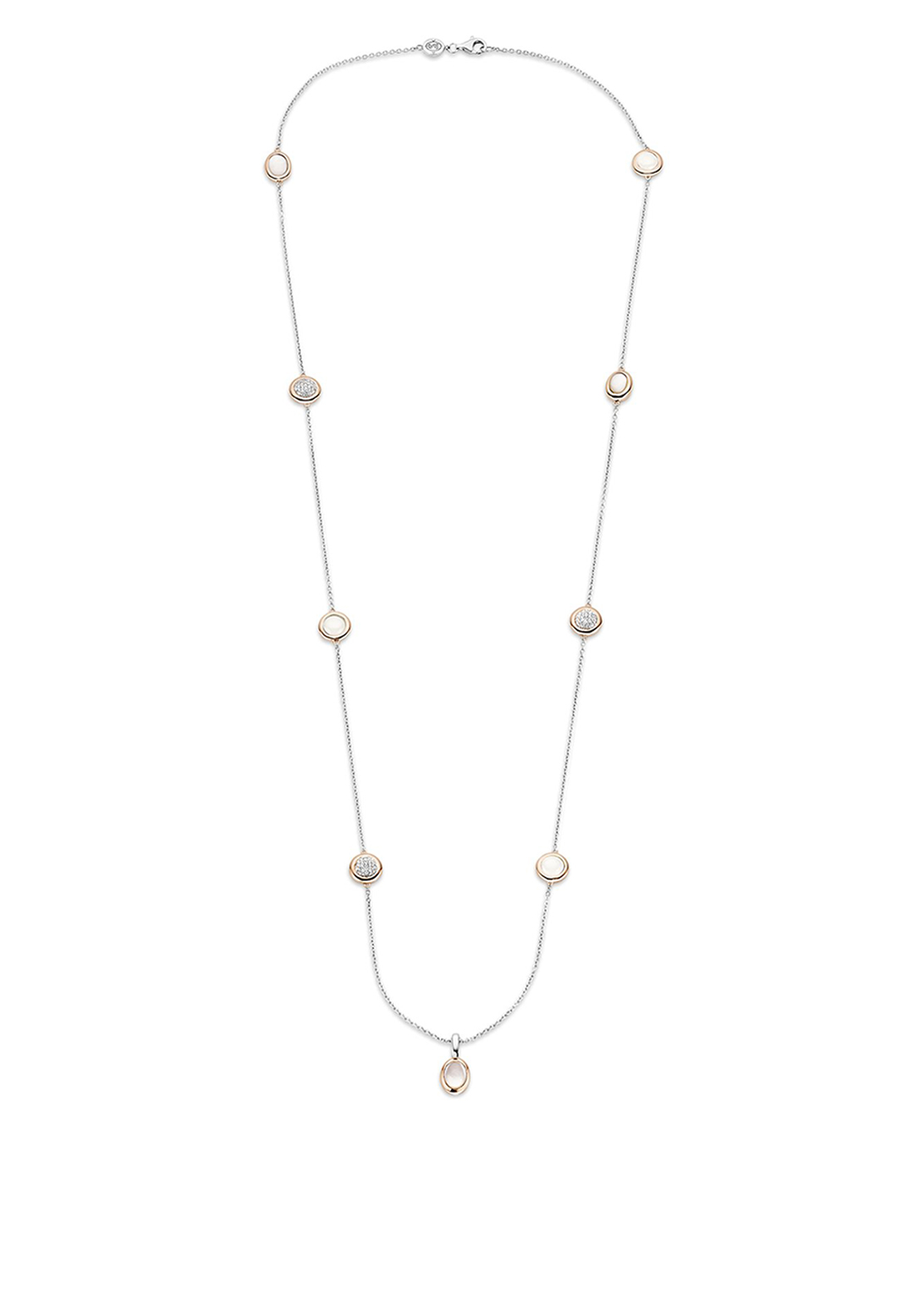 Ti Sento Milano Necklace Silver and Rose Gold