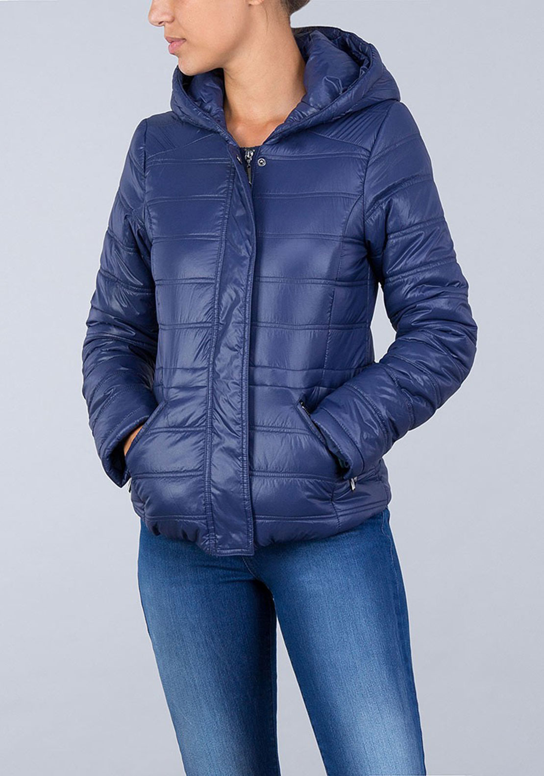Tiffosi Womens Latoya Padded Jacket, Dark Blue