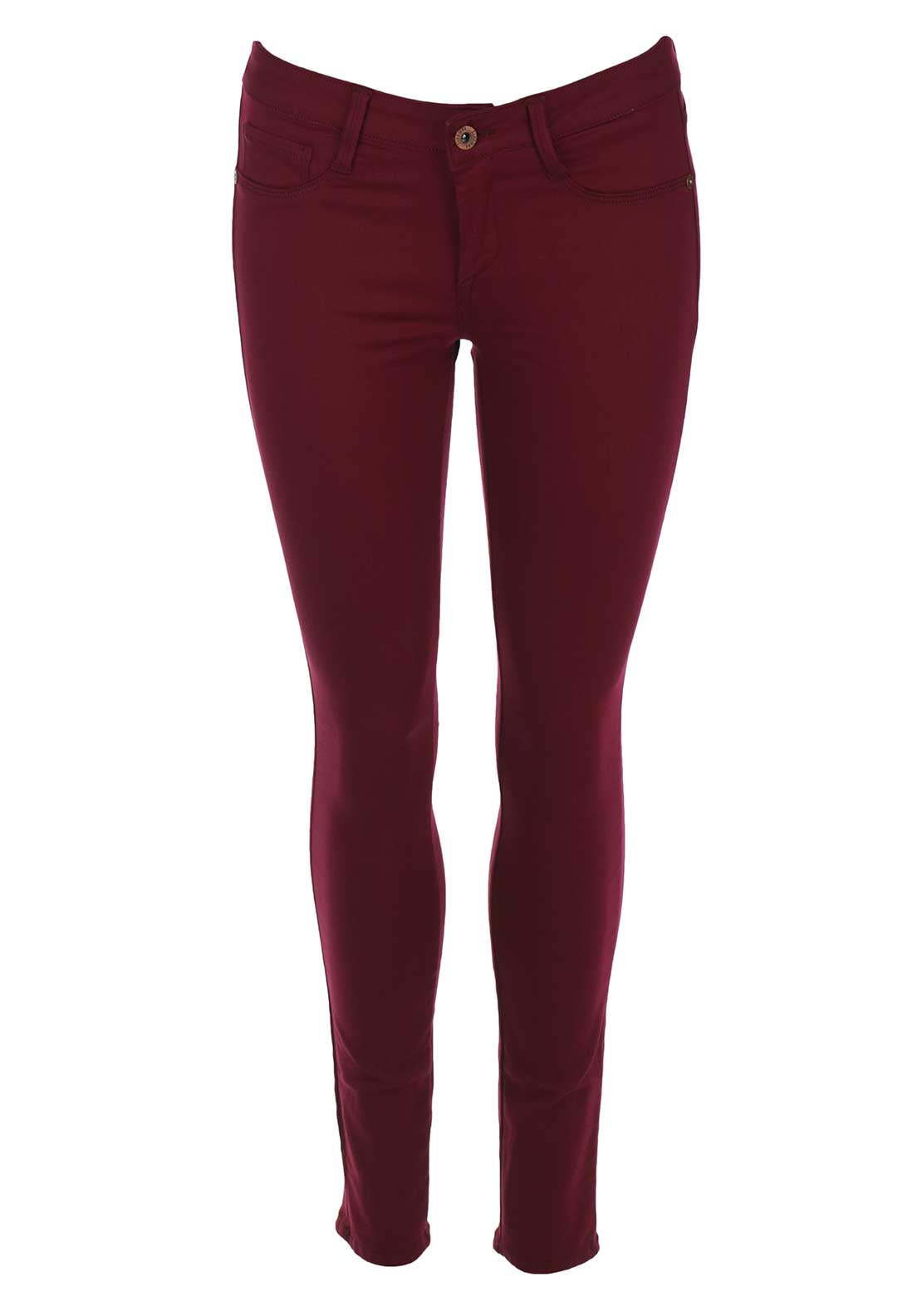 Tiffosi Womens One Size Fits All Original Skinny Jeans, Dark Red