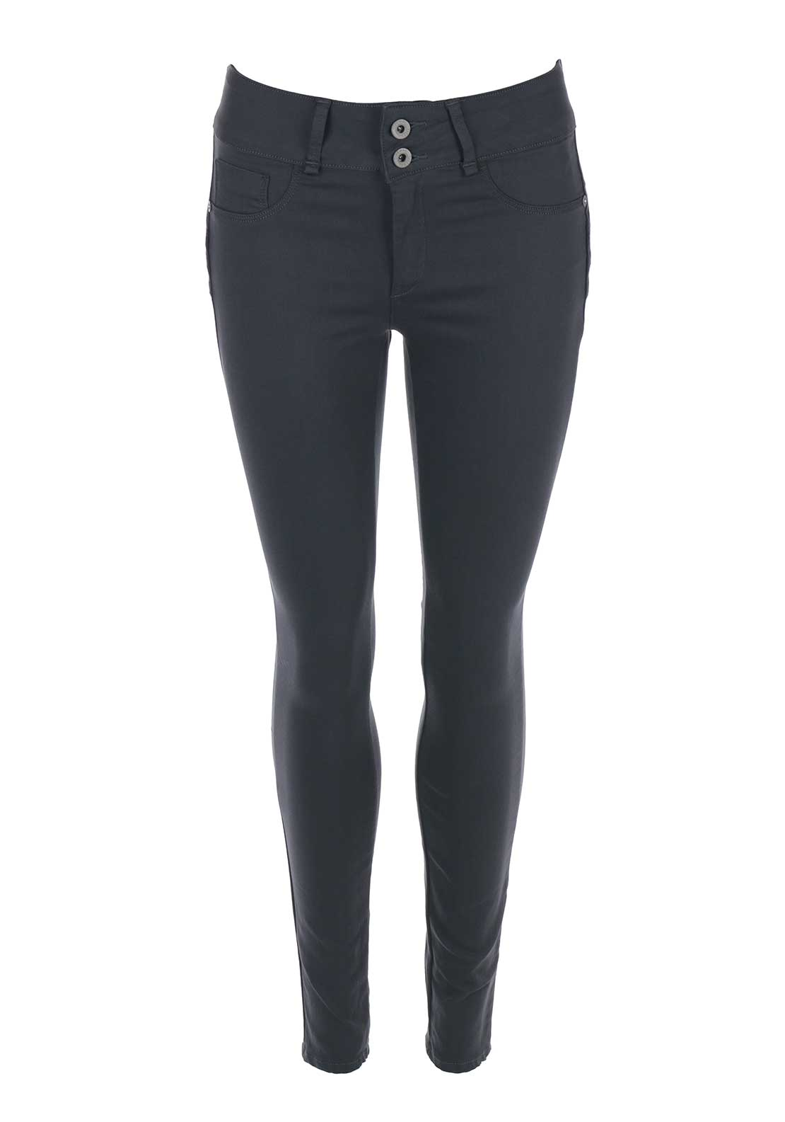 Tiffosi Womens One Size Double Up Skinny Jeans, Grey