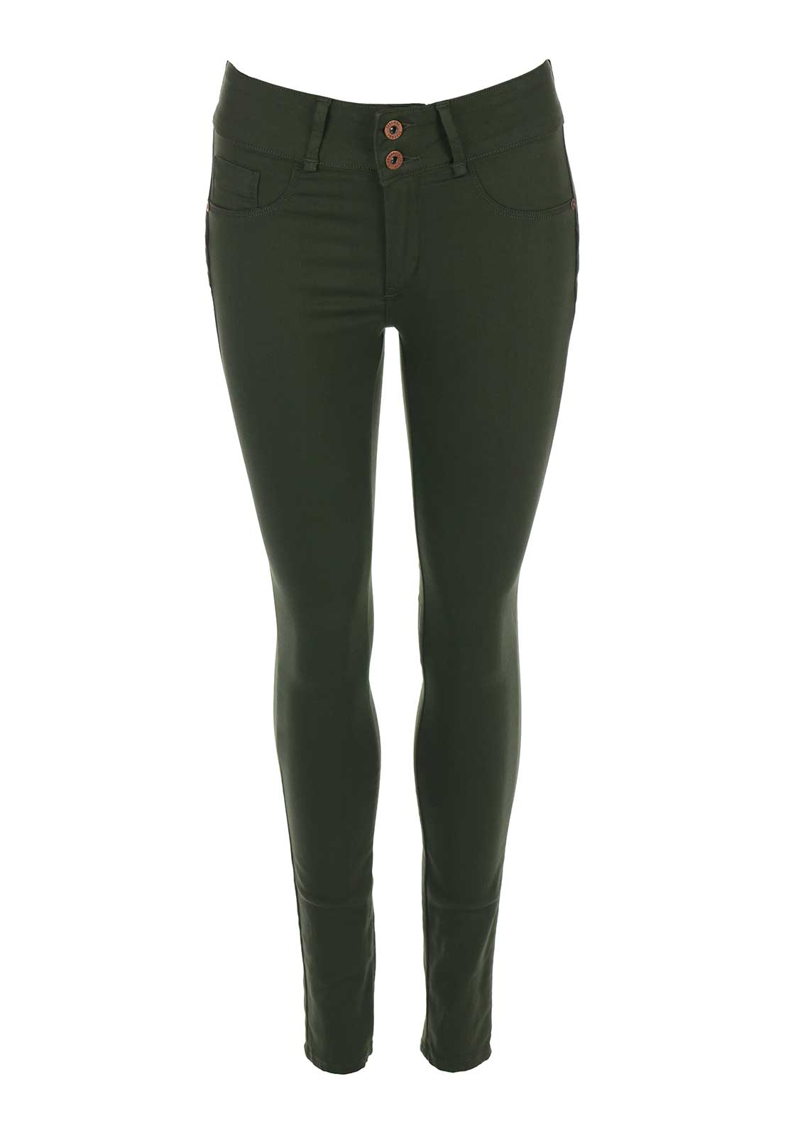 Tiffosi Womens One Size Double Up Skinny Jeans, Green