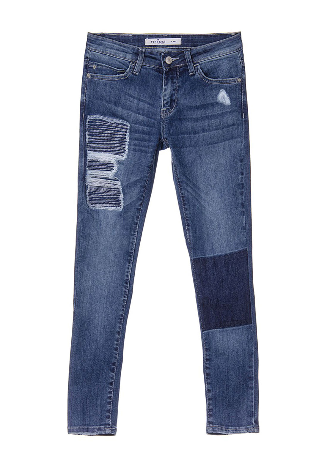 Tiffosi Girls Blake Ripped Jeans, Blue