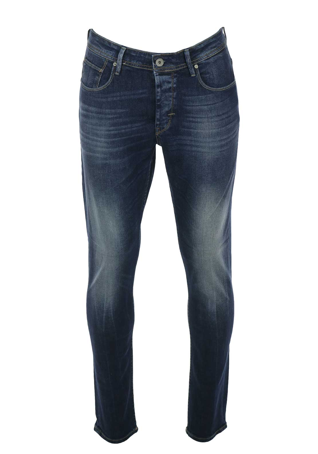 Tiffosi Mens Tyler Tapered Jeans, Blue Denim