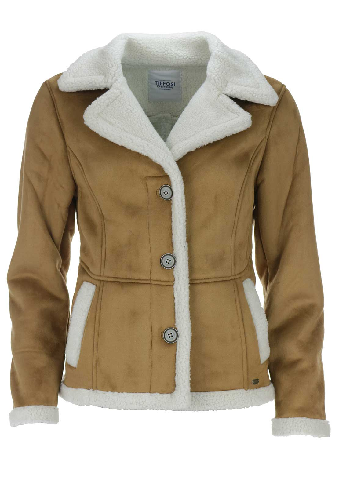 Tiffosi Womens Candice Shearling Jacket, Tan