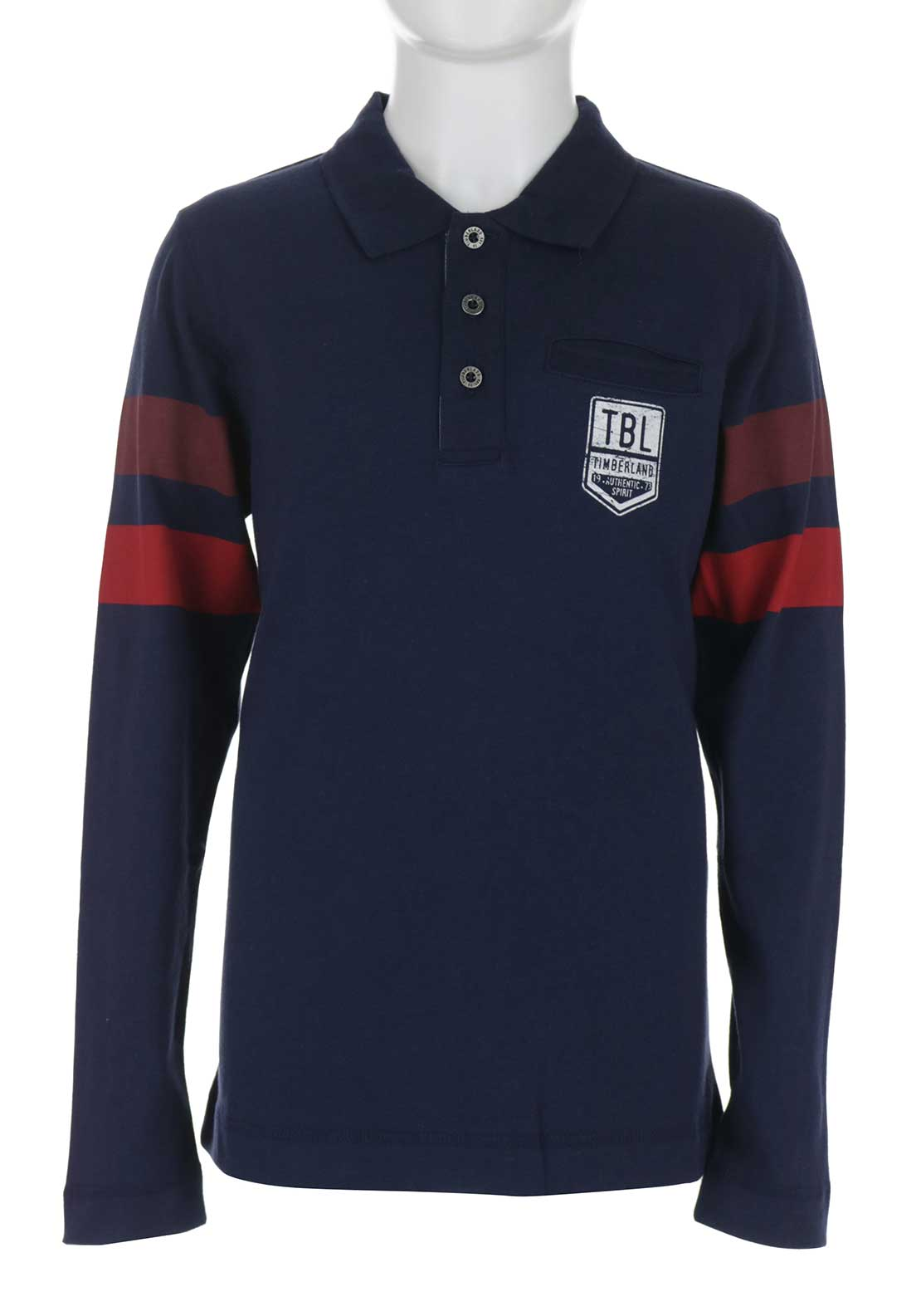 Timberland Boys Long Sleeve Polo Top, Navy