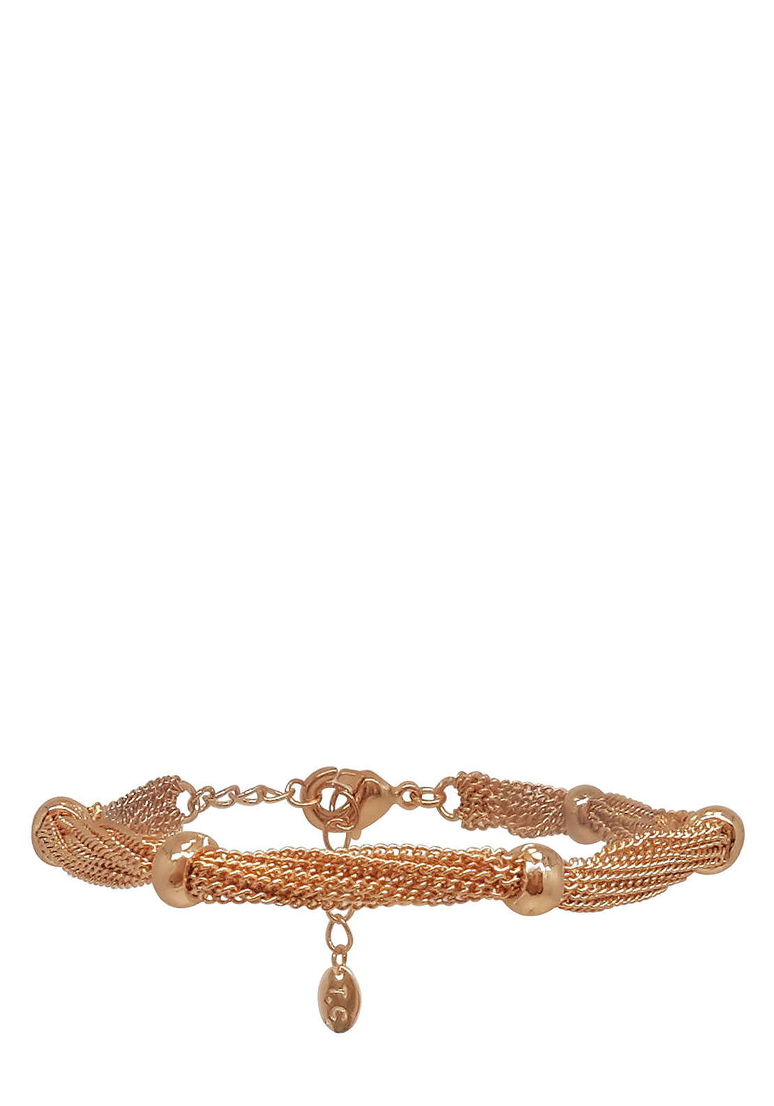 Tipperary Crystal Multi Chain Bracelet, Rose Gold
