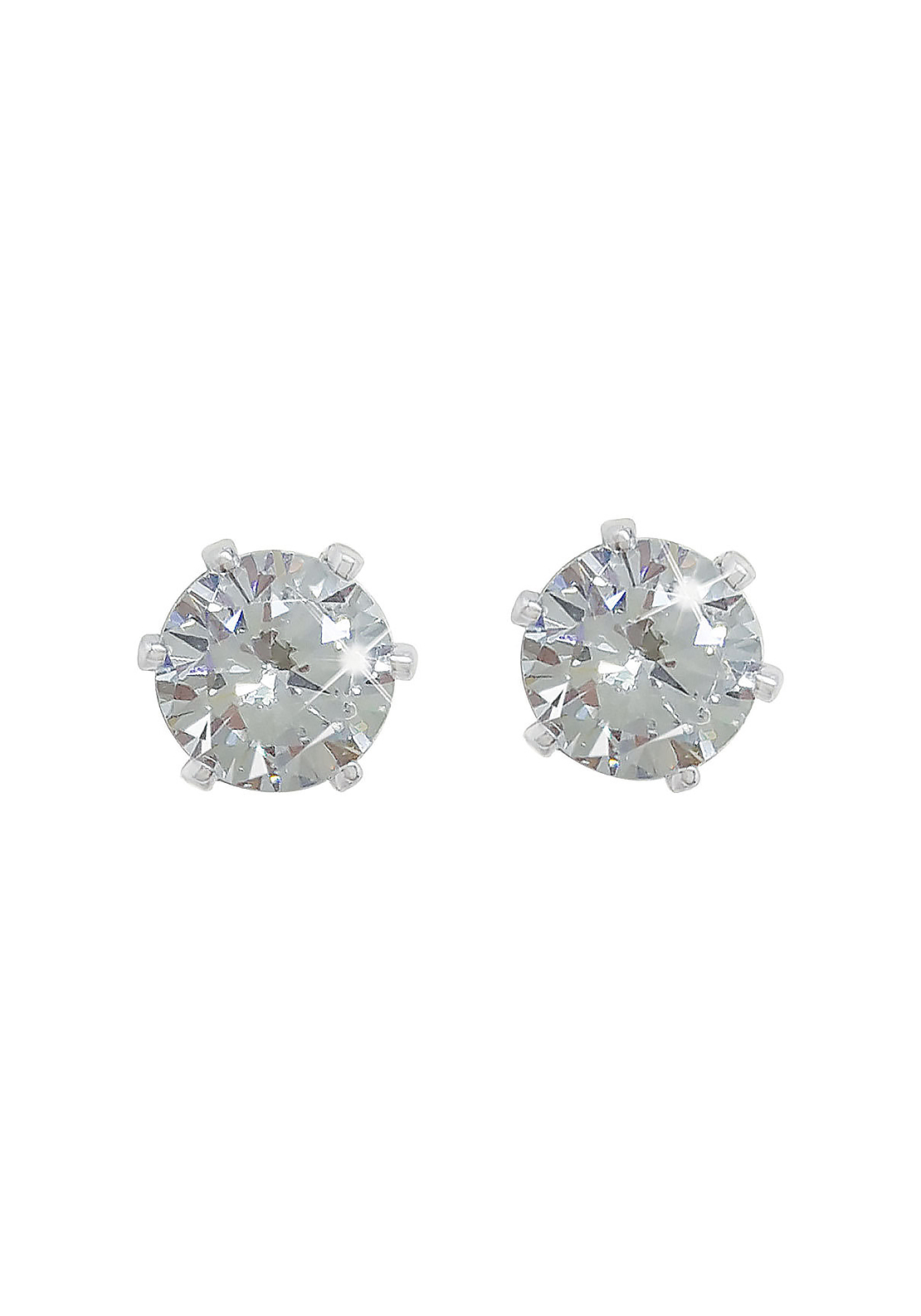 Tipperary Crystal Small 4mm Diamante Stud Earrings, Silver