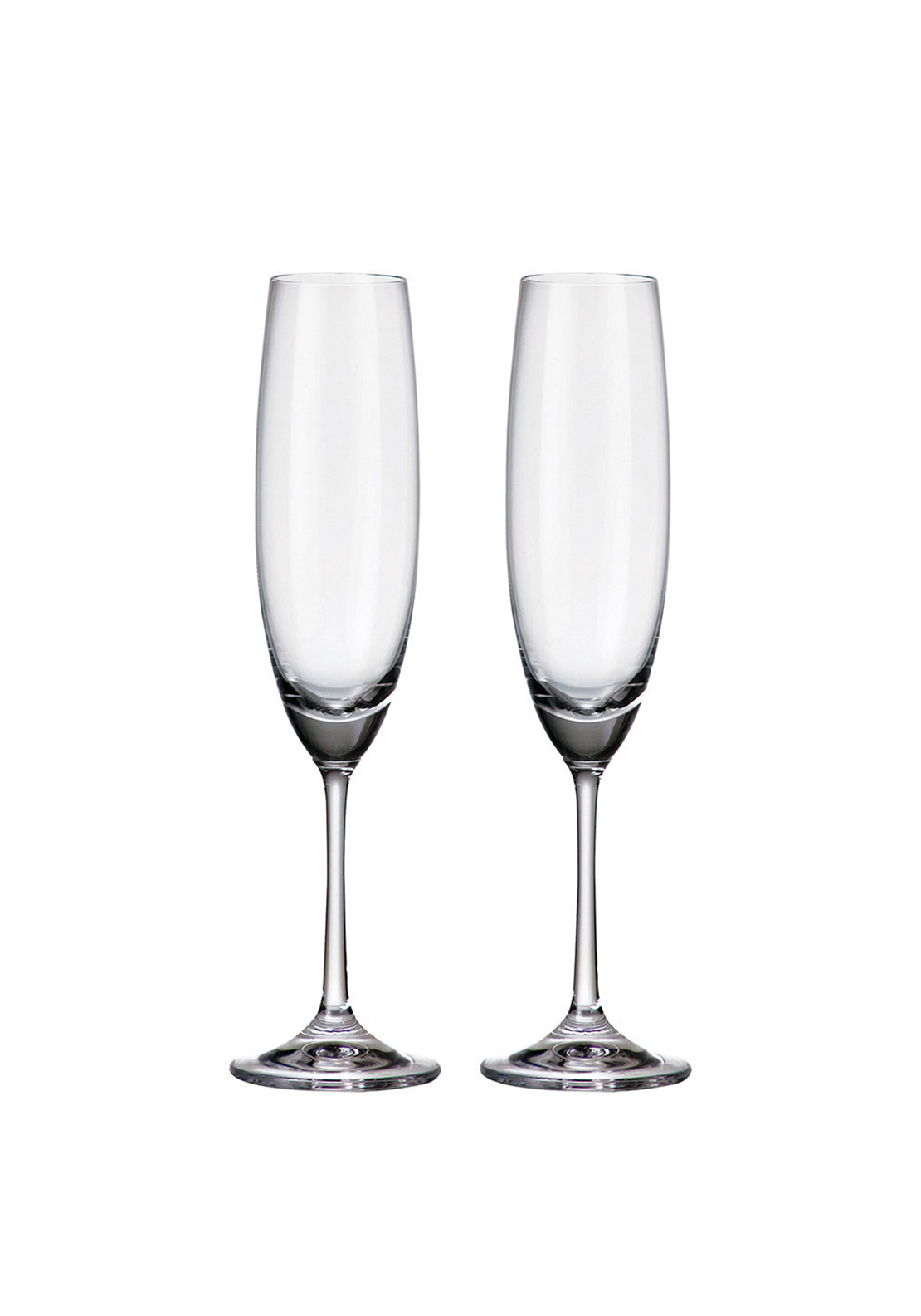 Tipperary Crystal Connoisseur Set of 2 Champaign Flutes 250ml Gift Box