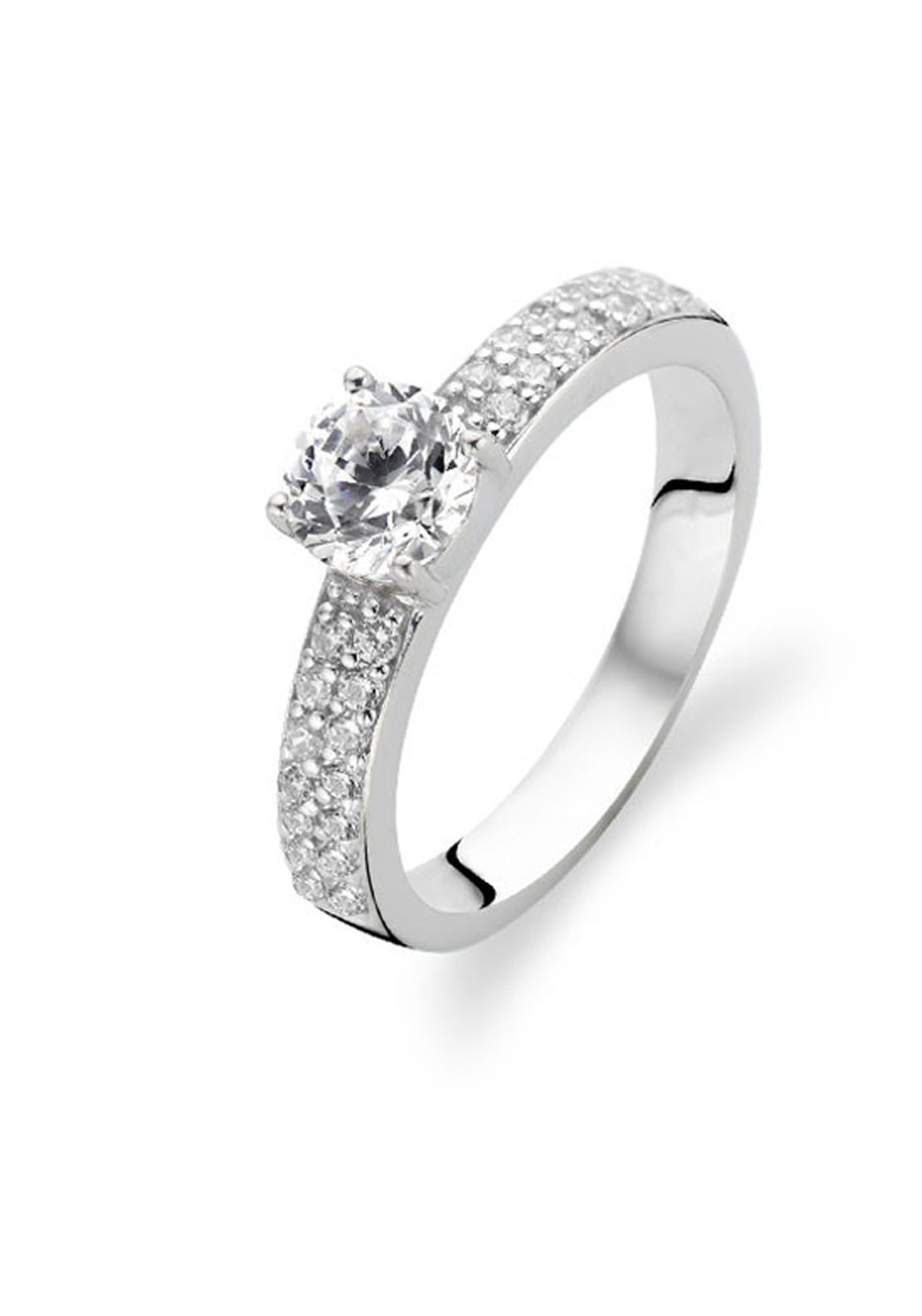 Ti Sento Solitaire Ring, Size N