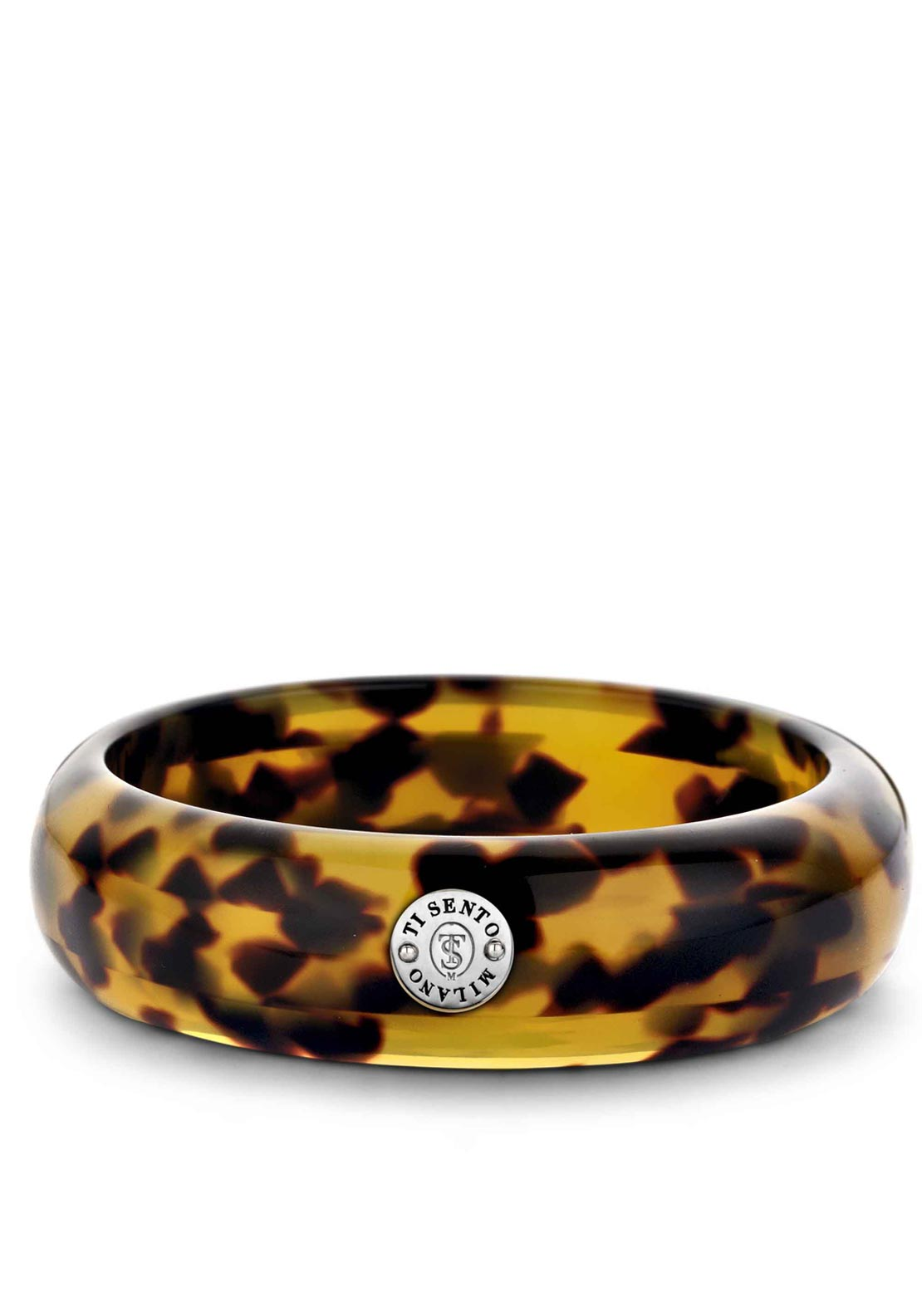 Ti Sento Milano Resin Tortoise Bracelet with Sterling Silver Detailing