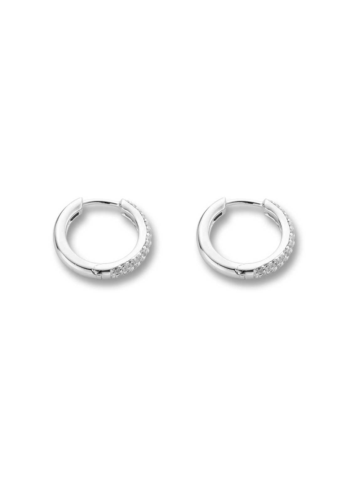 Ti Sento Cubic Zirconia Small Hoop Earrings
