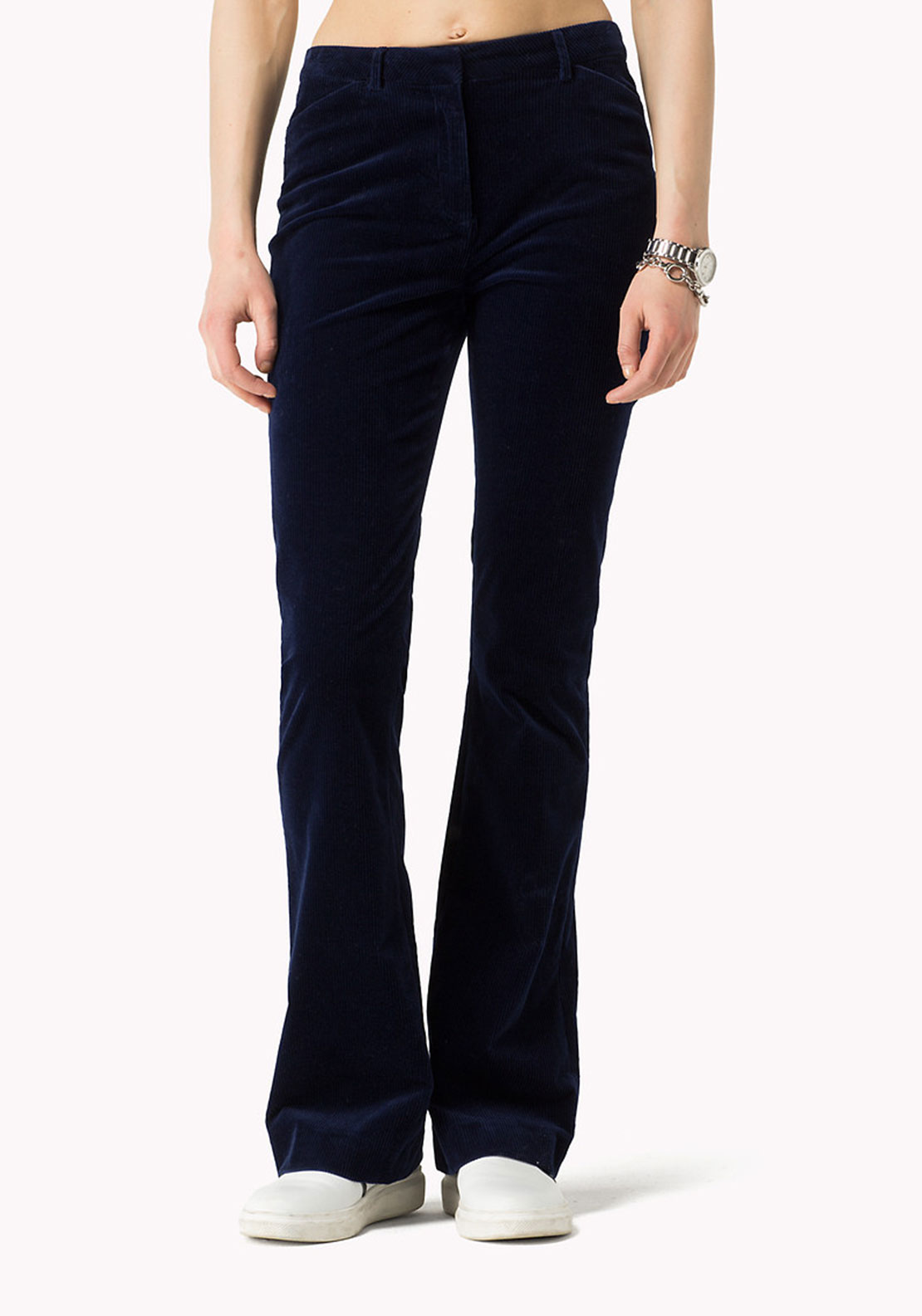 Tommy Hilfiger Womens Flared Cords, Navy