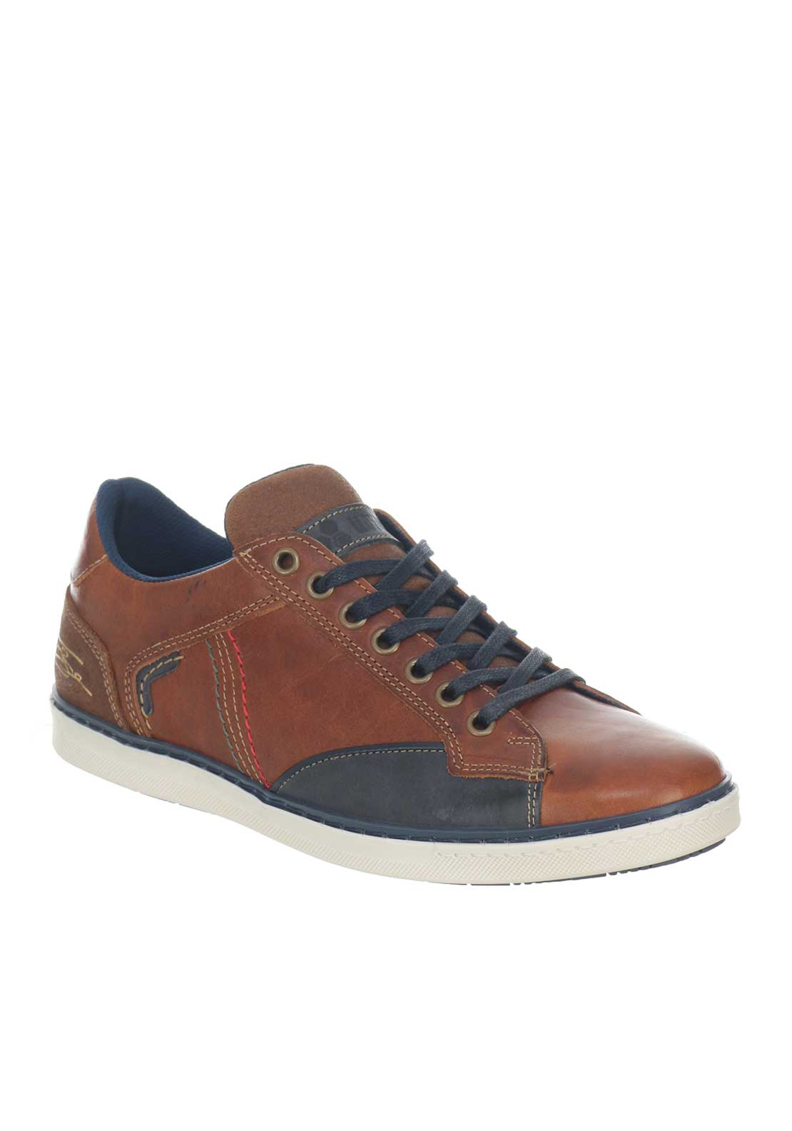Tommy Bowe Aki Leather Trainer, Brown
