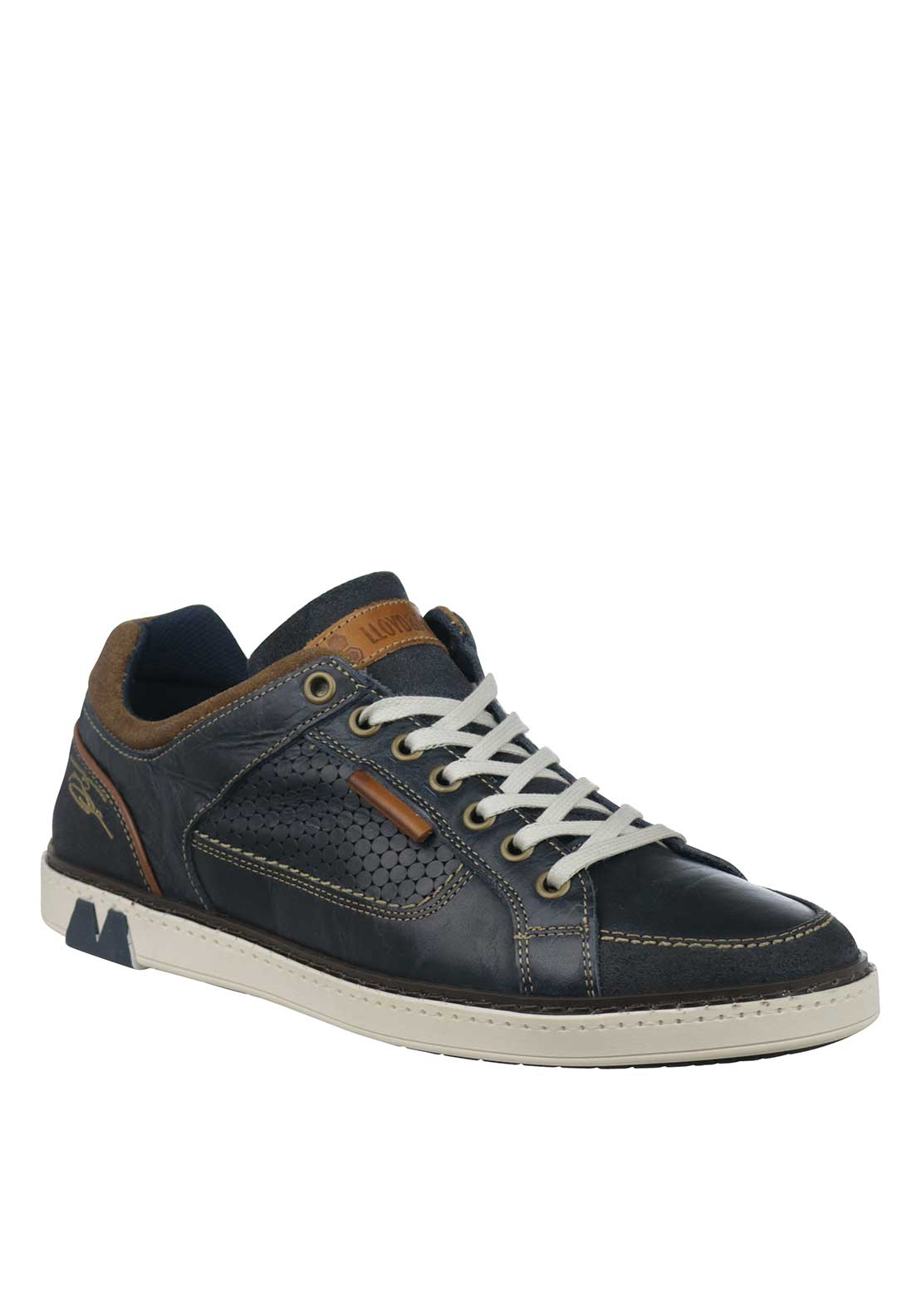 Tommy Bowe Barritt Leather Trainers, Navy