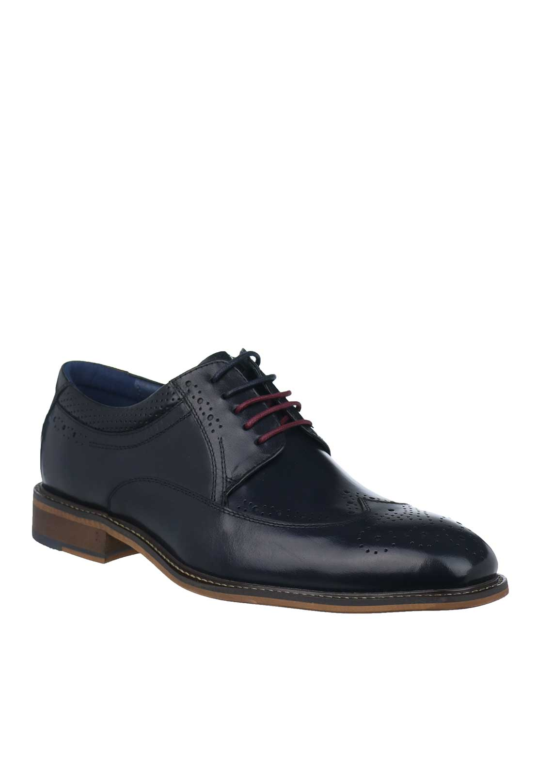 Tommy Bowe Olimpico Leather Brogue Shoes, Navy