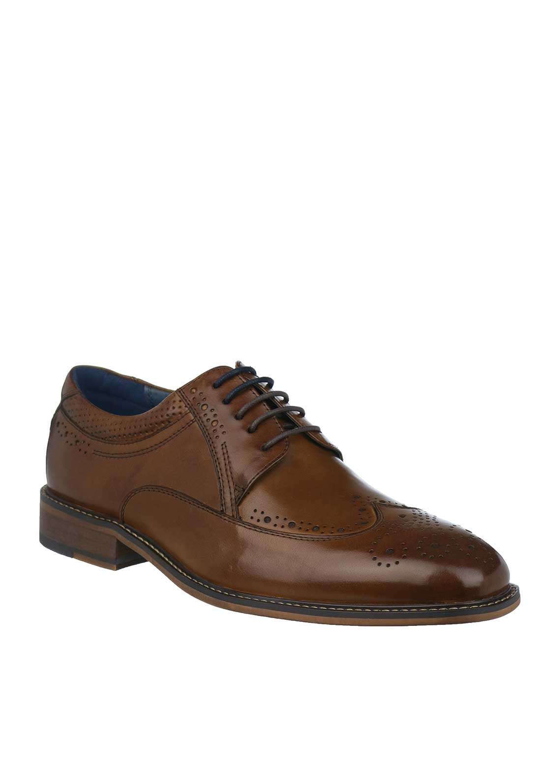 Tommy Bowe Olimpico Leather Brogue Shoes, Tan