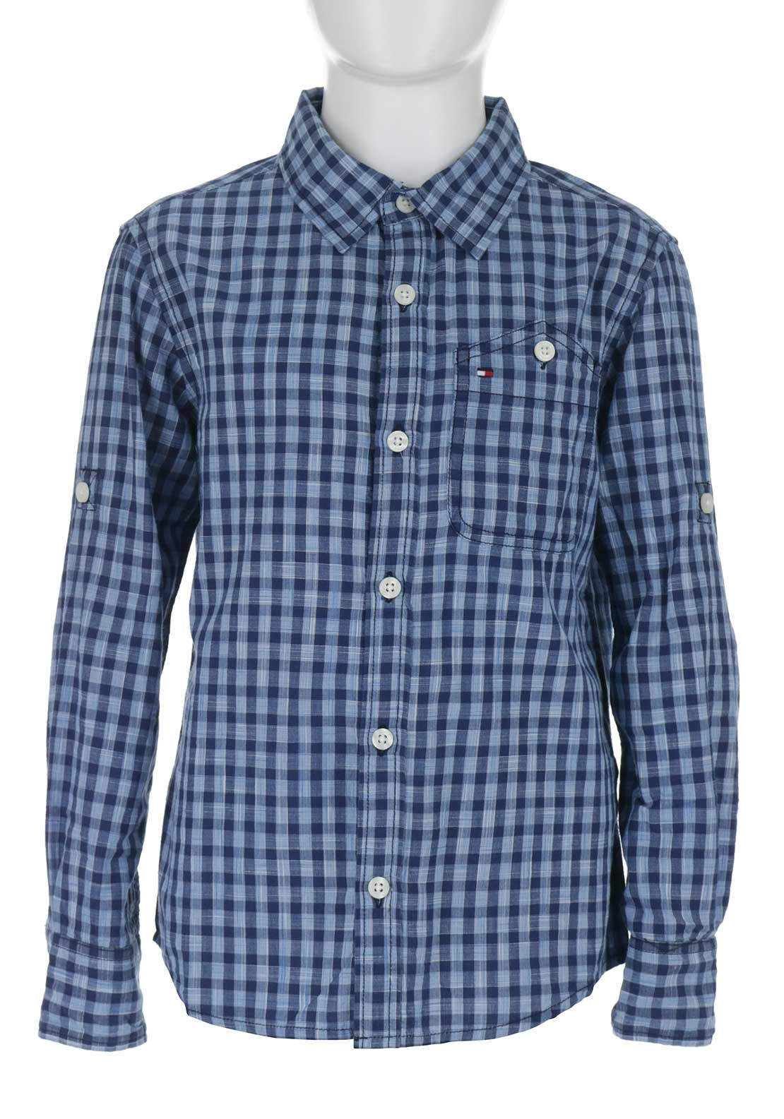 Tommy Hilfiger Boys Check Shirt, Blue