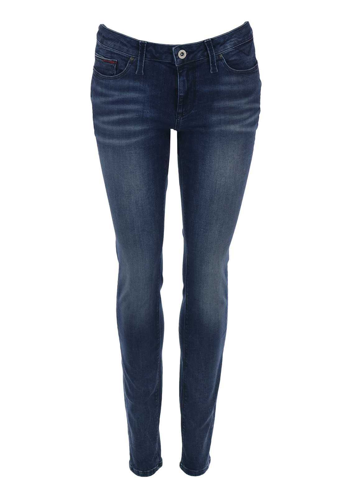 Tommy Hilfiger Womens Nora Midrise Skinny Jeans, Blue Vintage