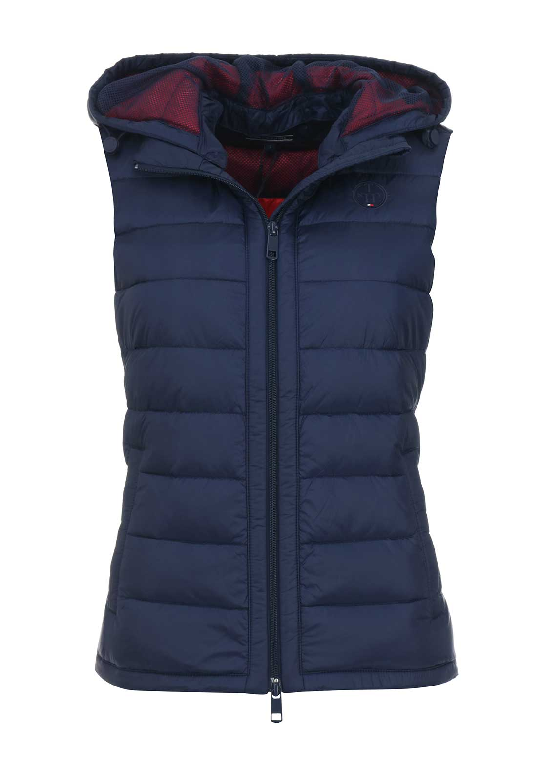 Tommy Hilfiger Womens Haley Hooded Gilet, Navy