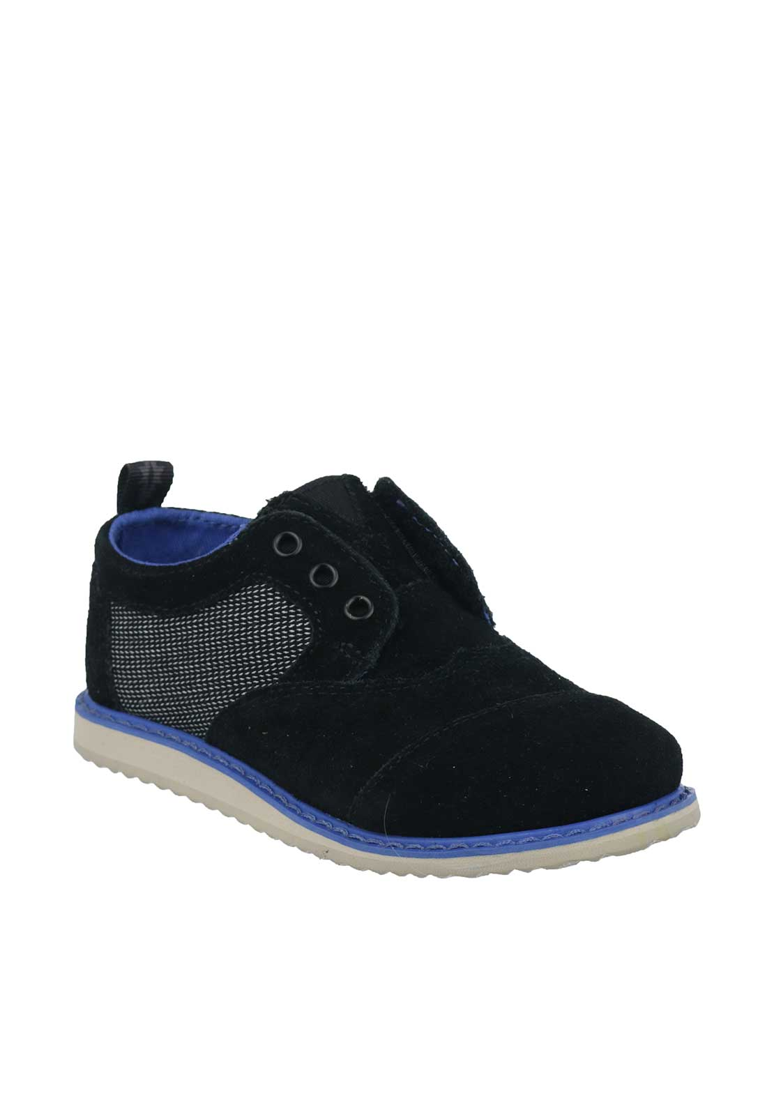 TOMS Baby Boys Suede Brogue Shoes, Black
