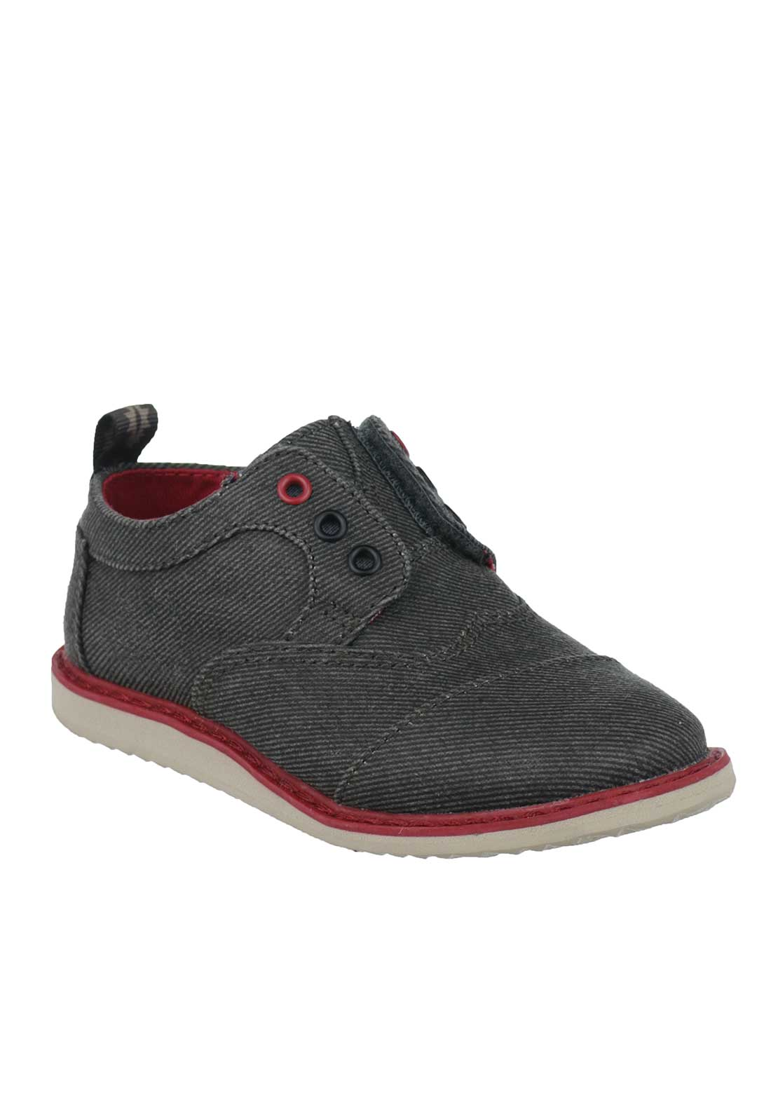 TOMS Baby Boys Velcro Brogue Shoes, Grey