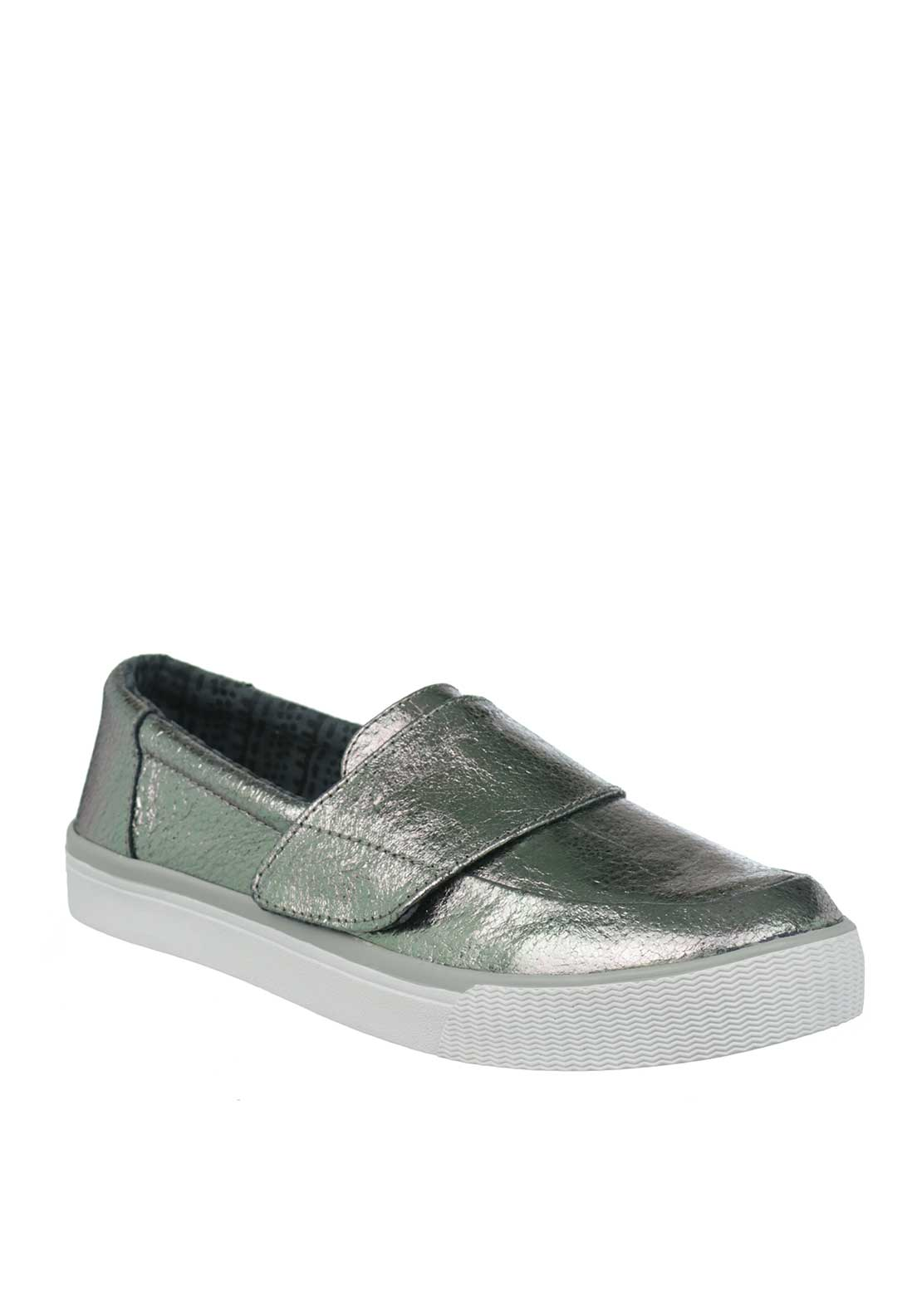TOMS Womens Altair Metallic Shoes, Silver