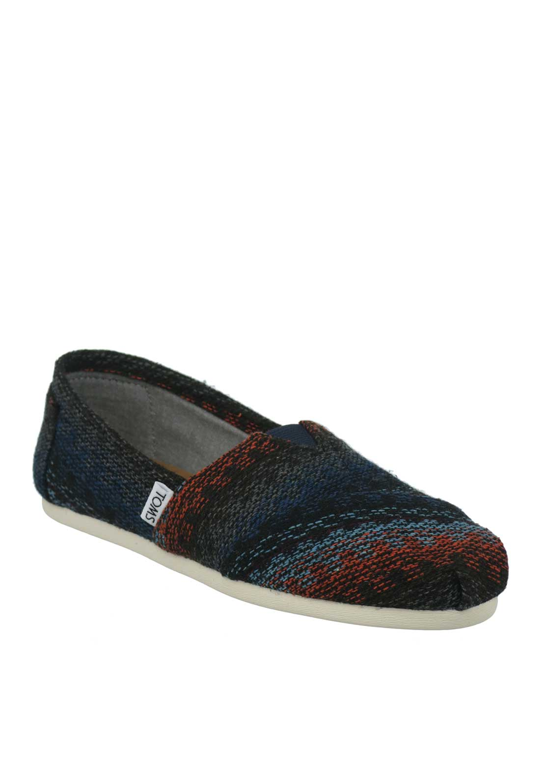 TOMS Womens Classic Knit Shoes, Multi-Coloured