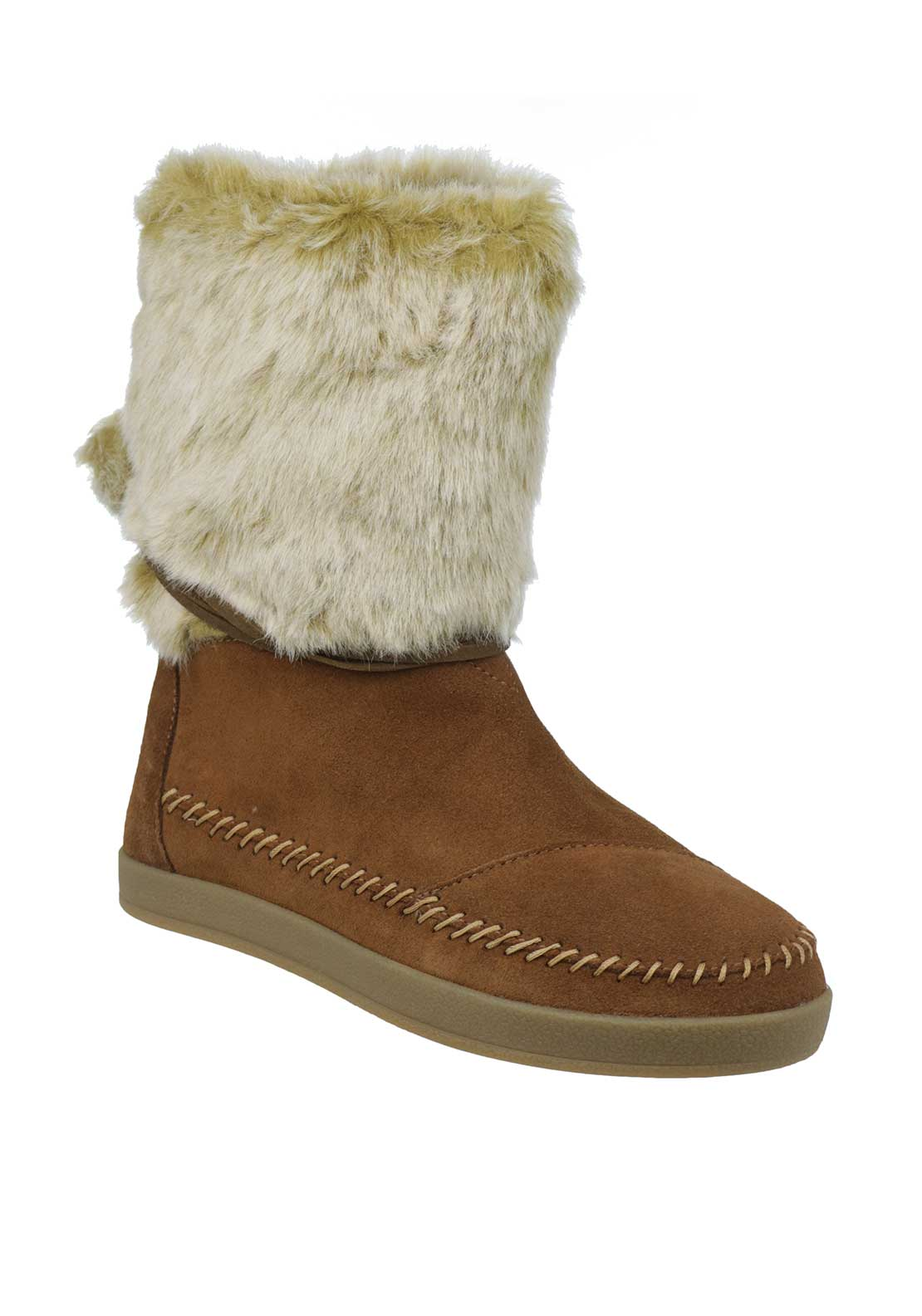TOMS Womens Suede Nepal Boots, Tan