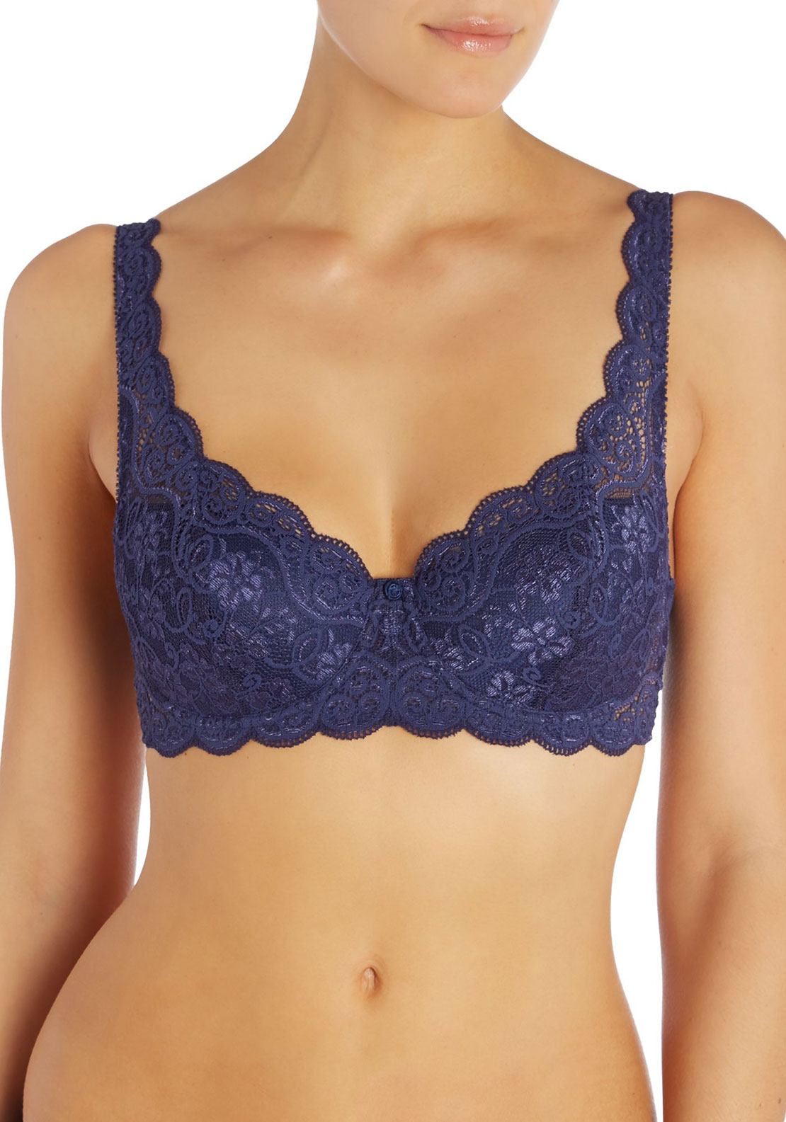 Triumph Amourette Lace Underwired Bra, Navy