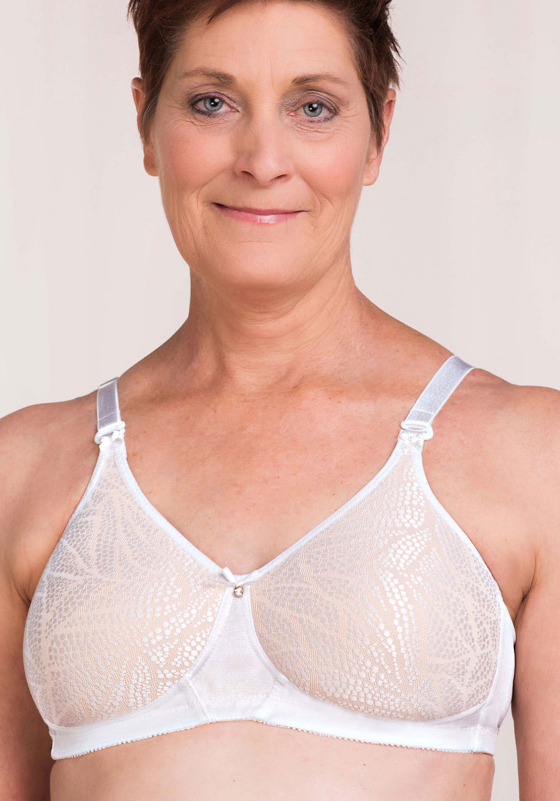 Trulife Daniela Mastectomy Bra, White