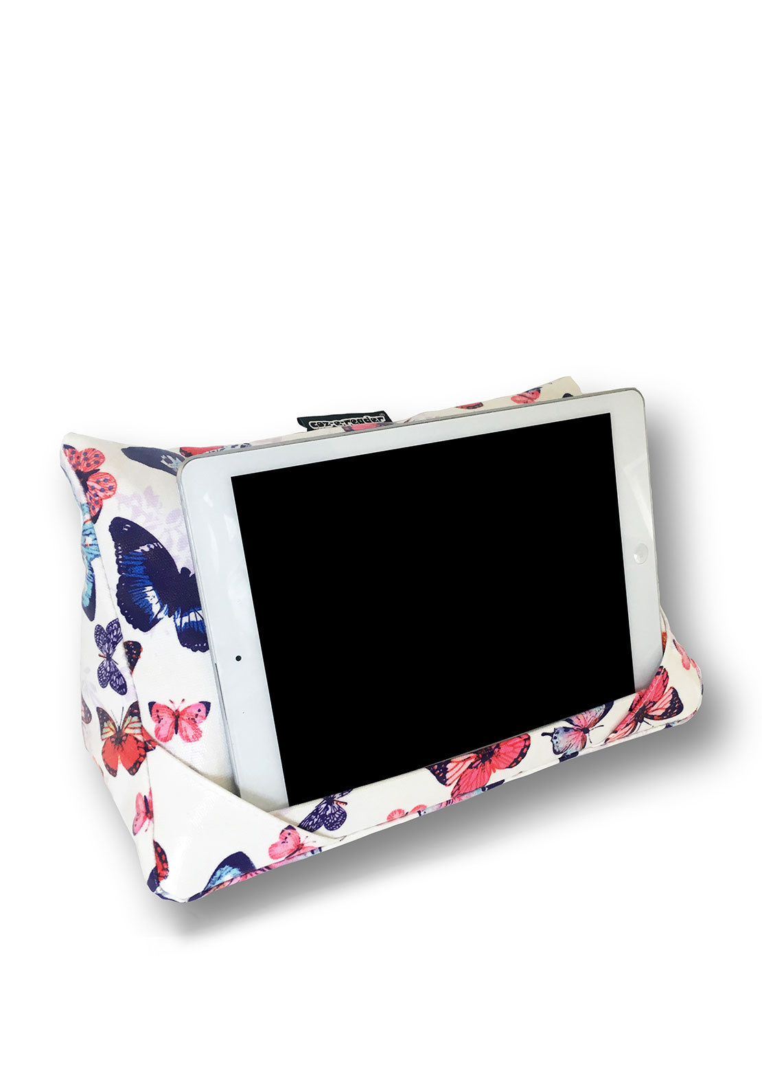 Coz-e-reader Butterfly Tablet Cushion, White