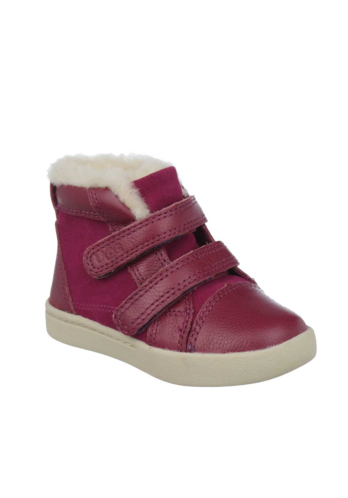 UGG Australia Baby Girls Rennon Leather Velcro Strap Boots, Victorian Pink