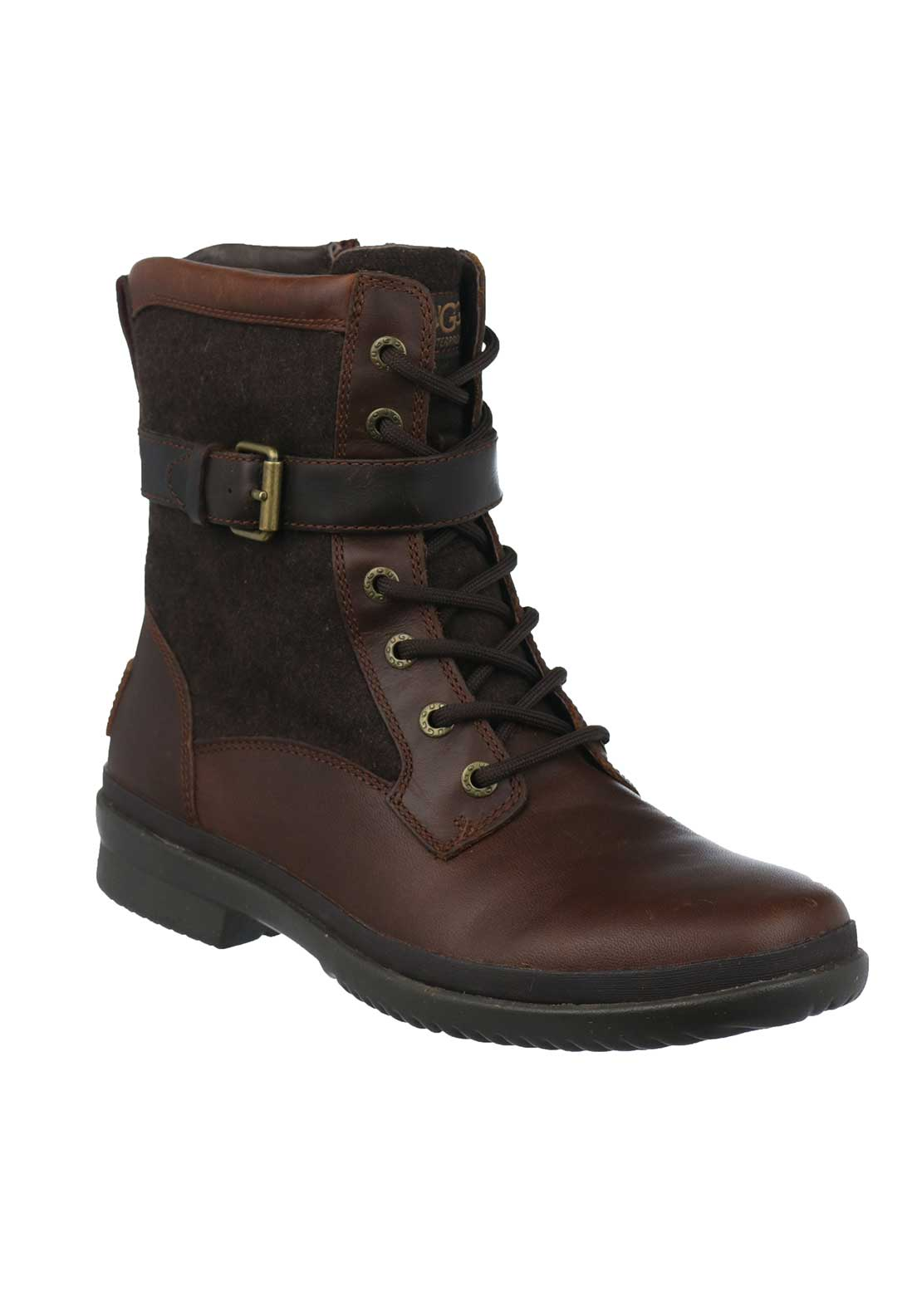 UGG Australia Womens Kesey Leather Laced Boots, Brown